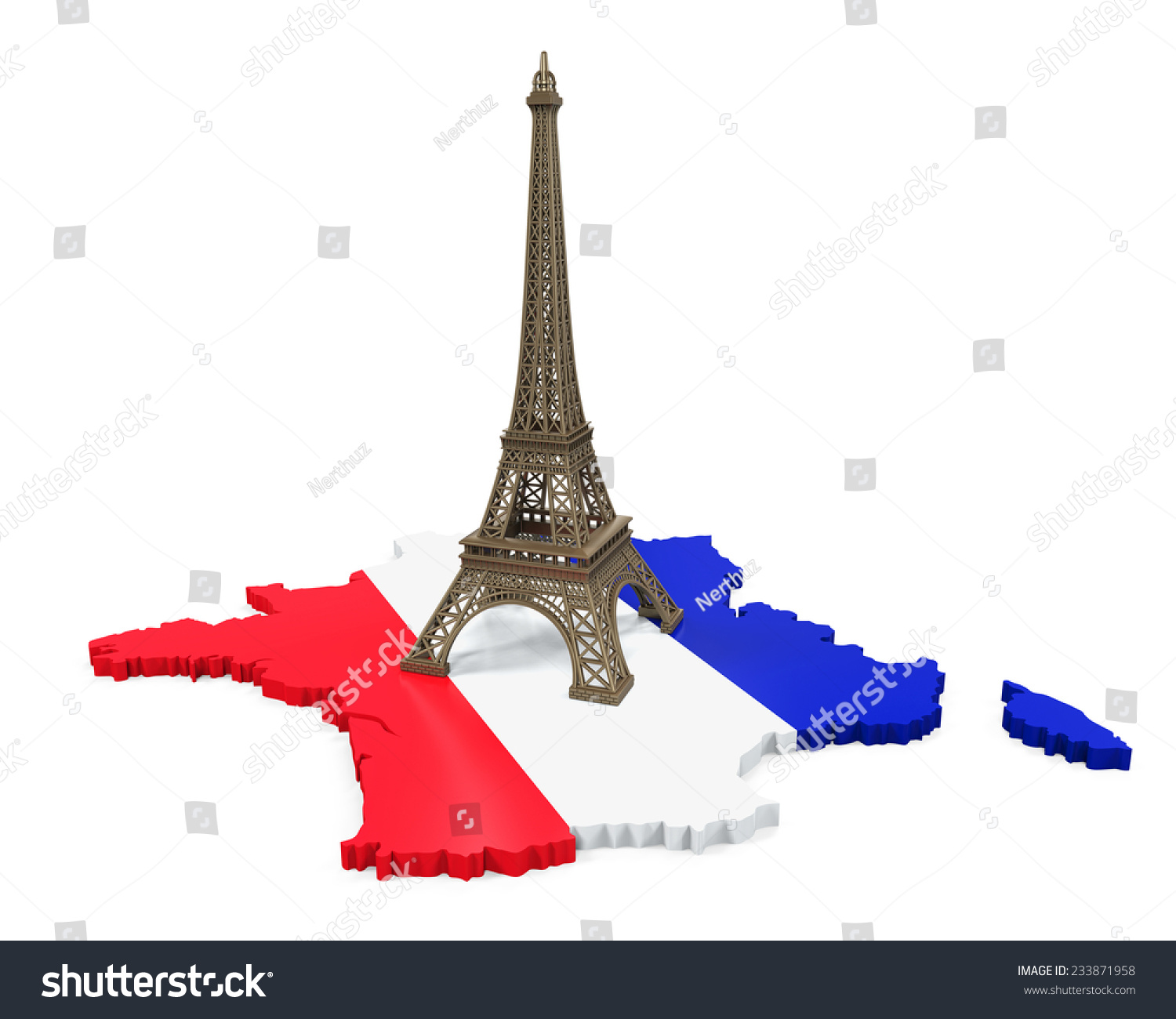 Map Of France Eiffel Tower.Royalty Free Stock Illustration Of Map France Eiffel Tower Stock