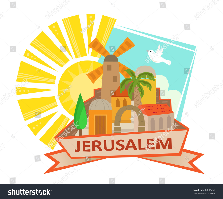 Jerusalem Icon Cute Clip Art Jerusalem Stock Vector 233884201 ...