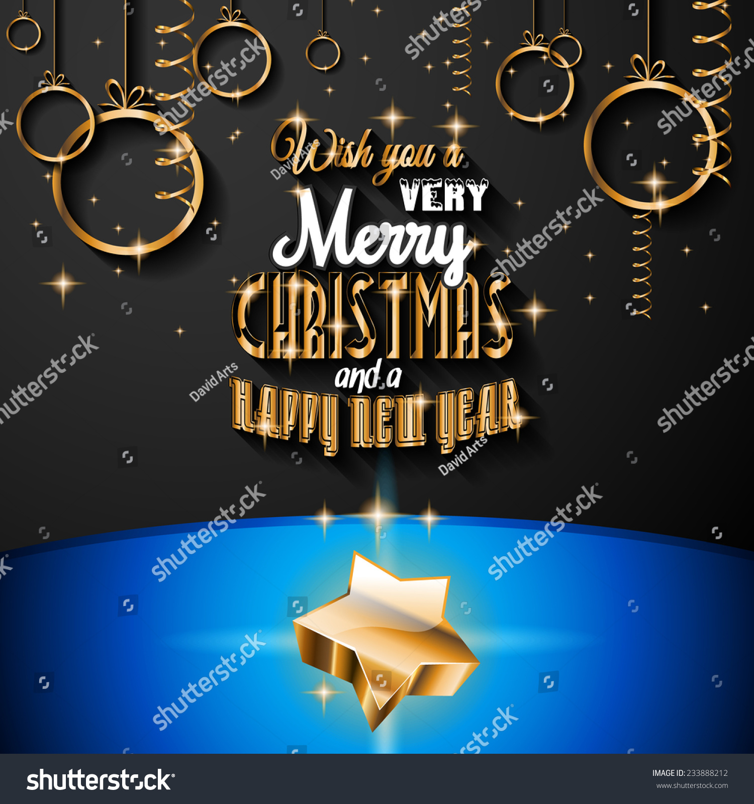 2015 New Year Happy Christmas Background Stock Vector 233888212