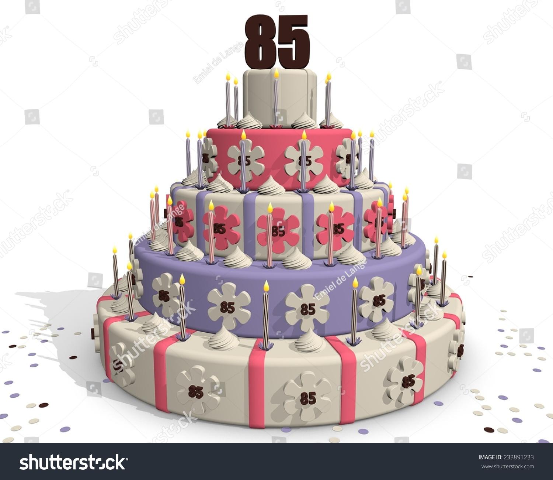 Birthday Cake Cake Anniversary 85 Years Stock Illustration 233891233