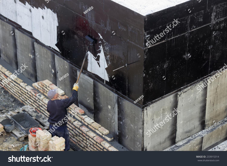 Belgrade serbia november 24 waterproofing worker stock photo 233915314 shutterstock - Exterior waterproofing paint plan ...