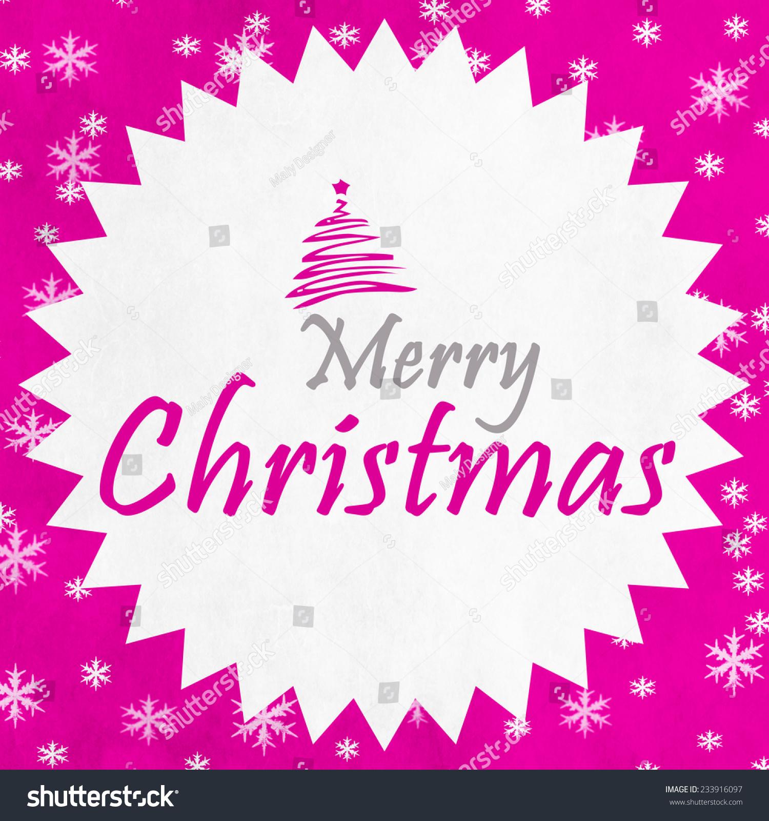 Merry Christmas Season Greetings Quote Stock Illustration 233916097
