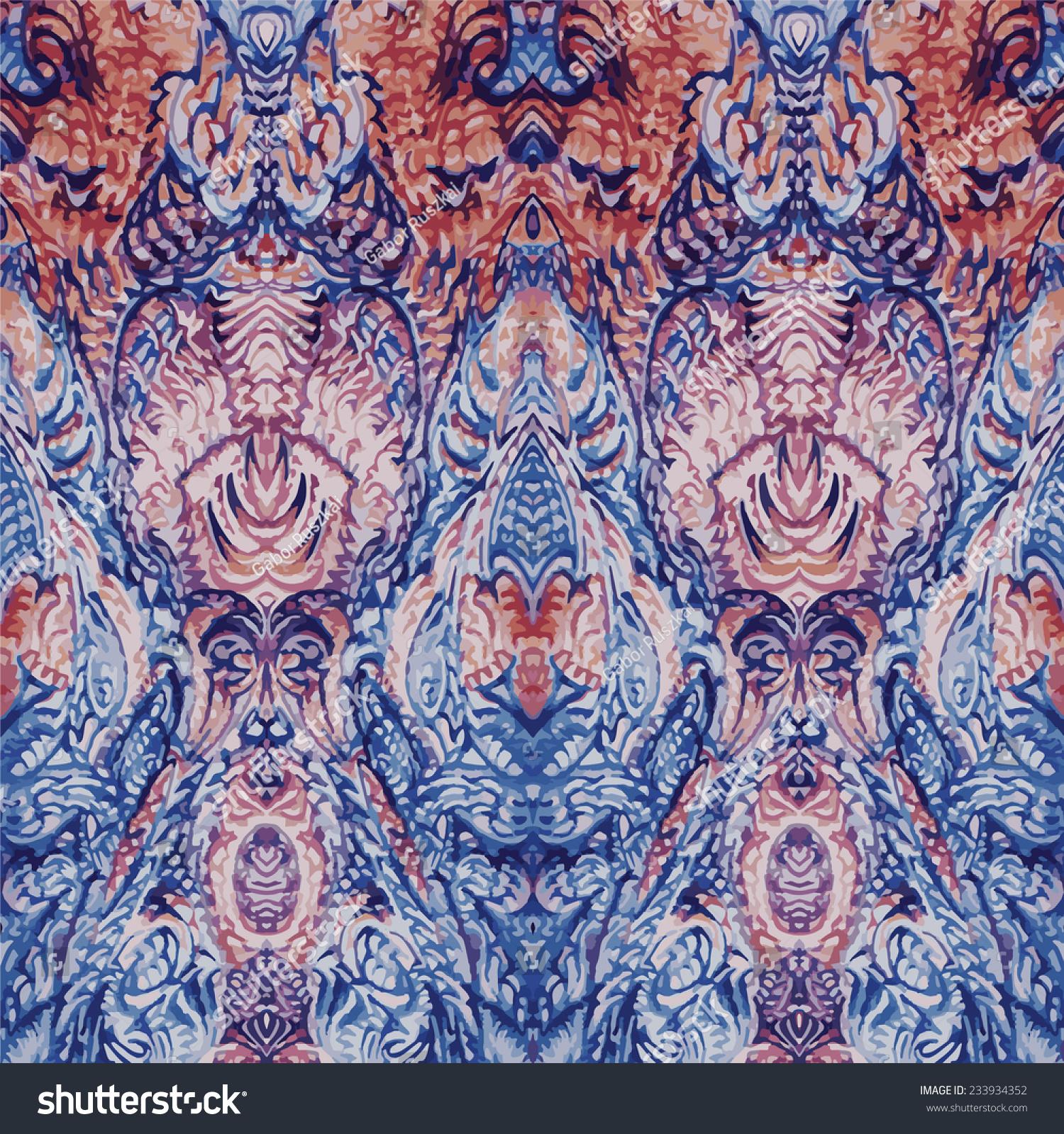 vintage tapestry pattern lager-vektor 233934352