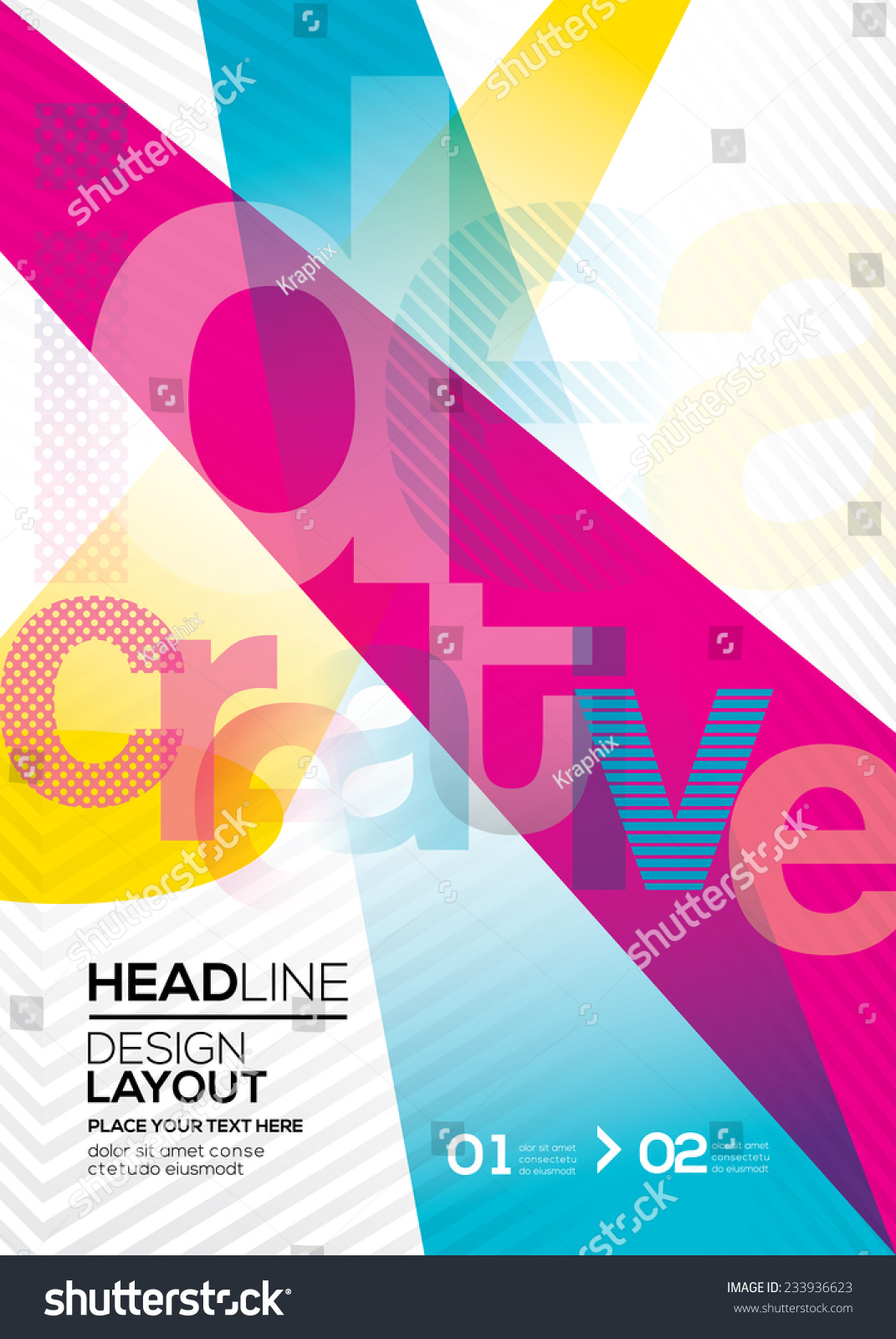 Book Cover Design Background : Cmyk vector abstract design layout background for flyer