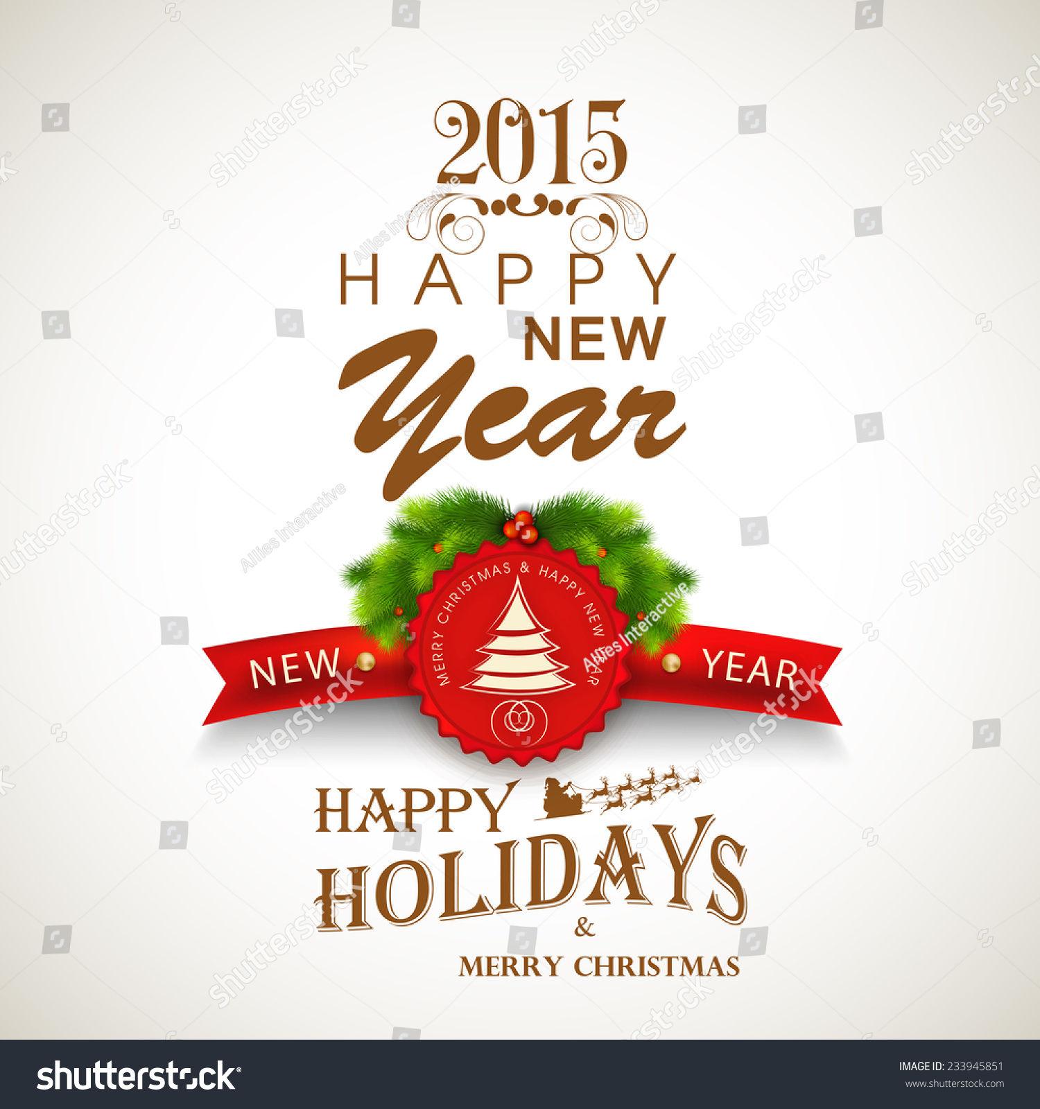happy new year merry christmas celebration stock vector  happy new year and merry christmas celebration beautiful poster banner or flyer design fir