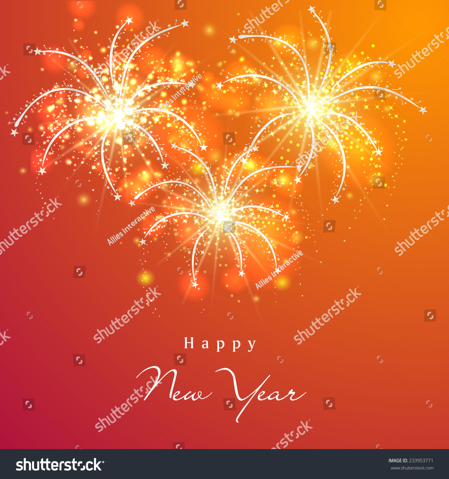 Happy New Year 2015 Celebration Greeting Stock Vector Royalty Free