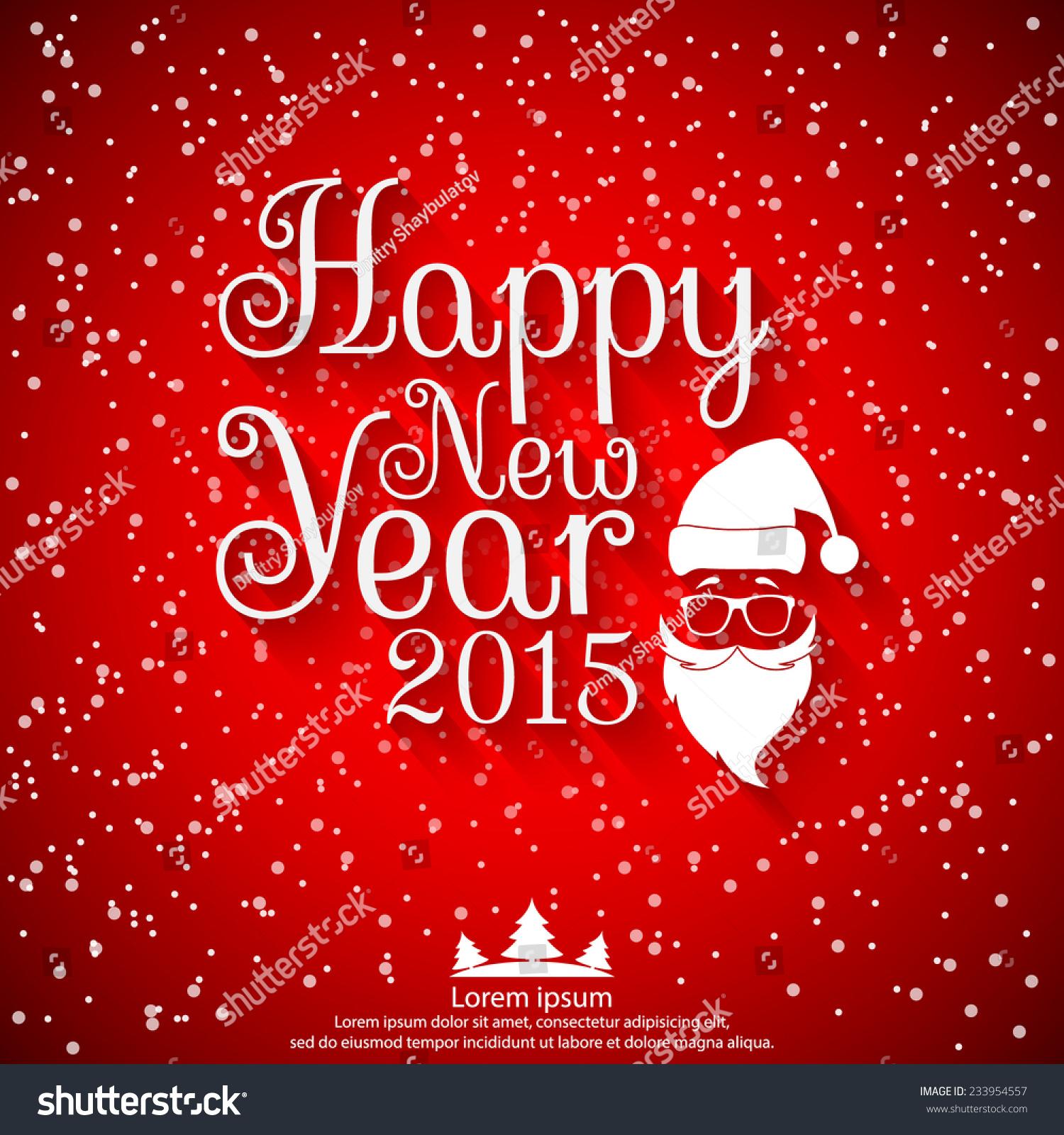 Happy New Year 2015 Vector Illustration Stock Vector 233954557 ...