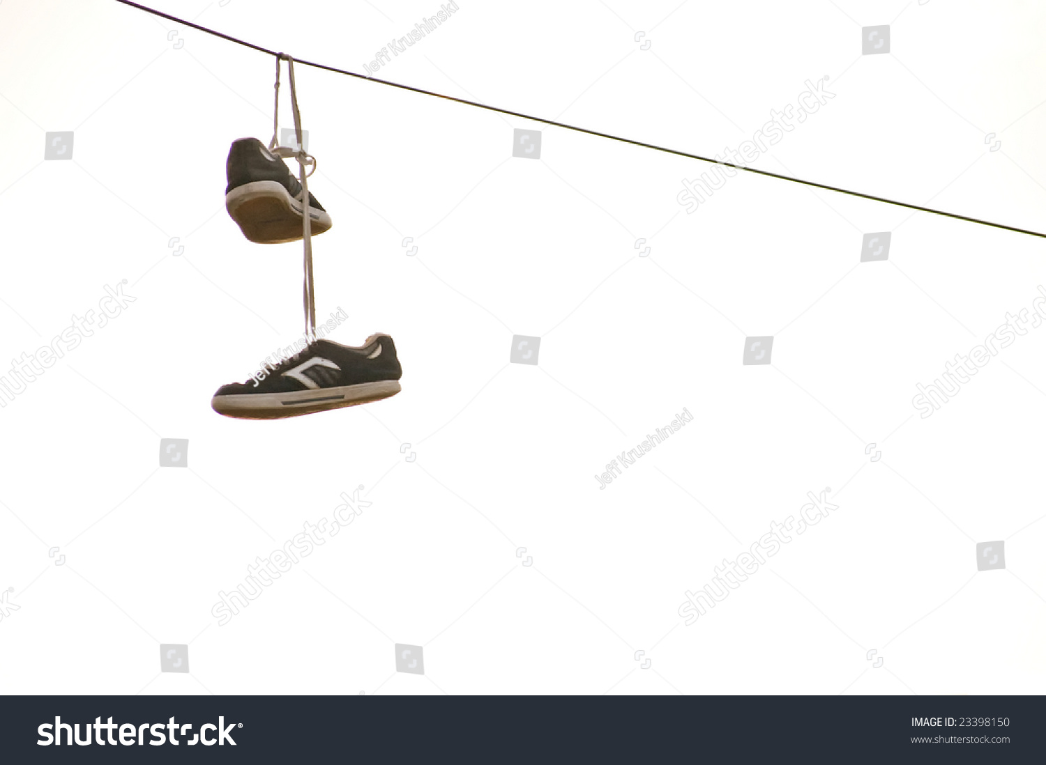 Hanging Pictures On Wire sneakers hanging on wire stock photo 23398150 - shutterstock