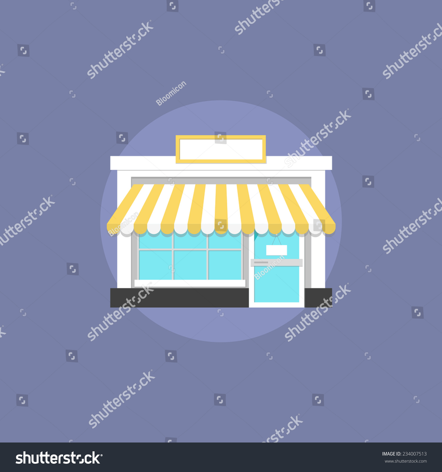Small shop facade architecture commercial building stock vector 234007513 s - Facade local commercial ...
