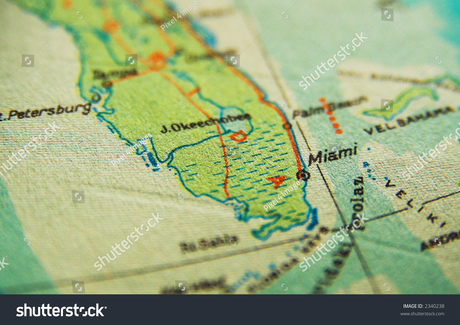 Us Map Miami Florida Map Stock Photo Shutterstock - Miami on us map
