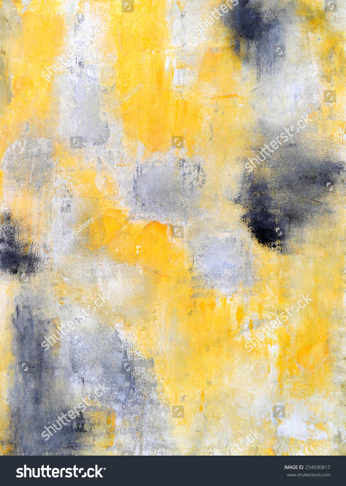 Black And Yellow Abstract Art Painting Stock Photo ... Yellow Black Abstract Paintings
