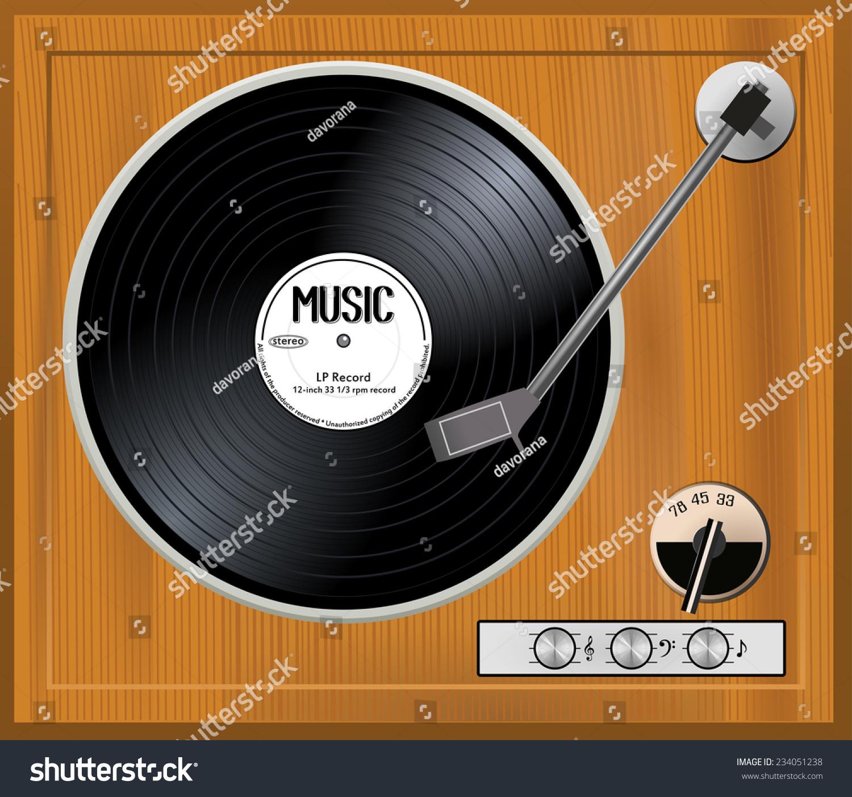 Vintage vinyl record very well