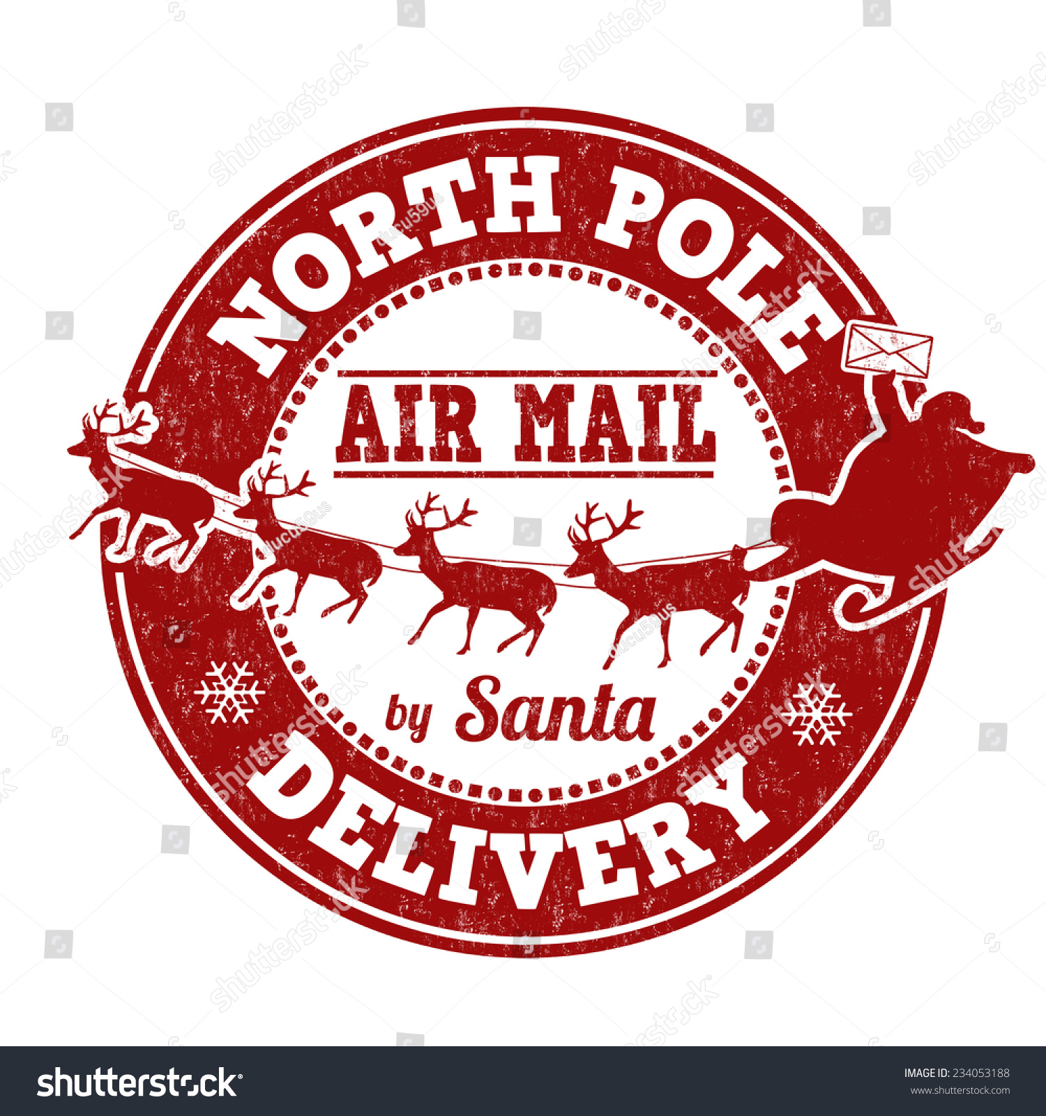 Santa North Pole Stamp Stock images similar to id 109278368 - north ...