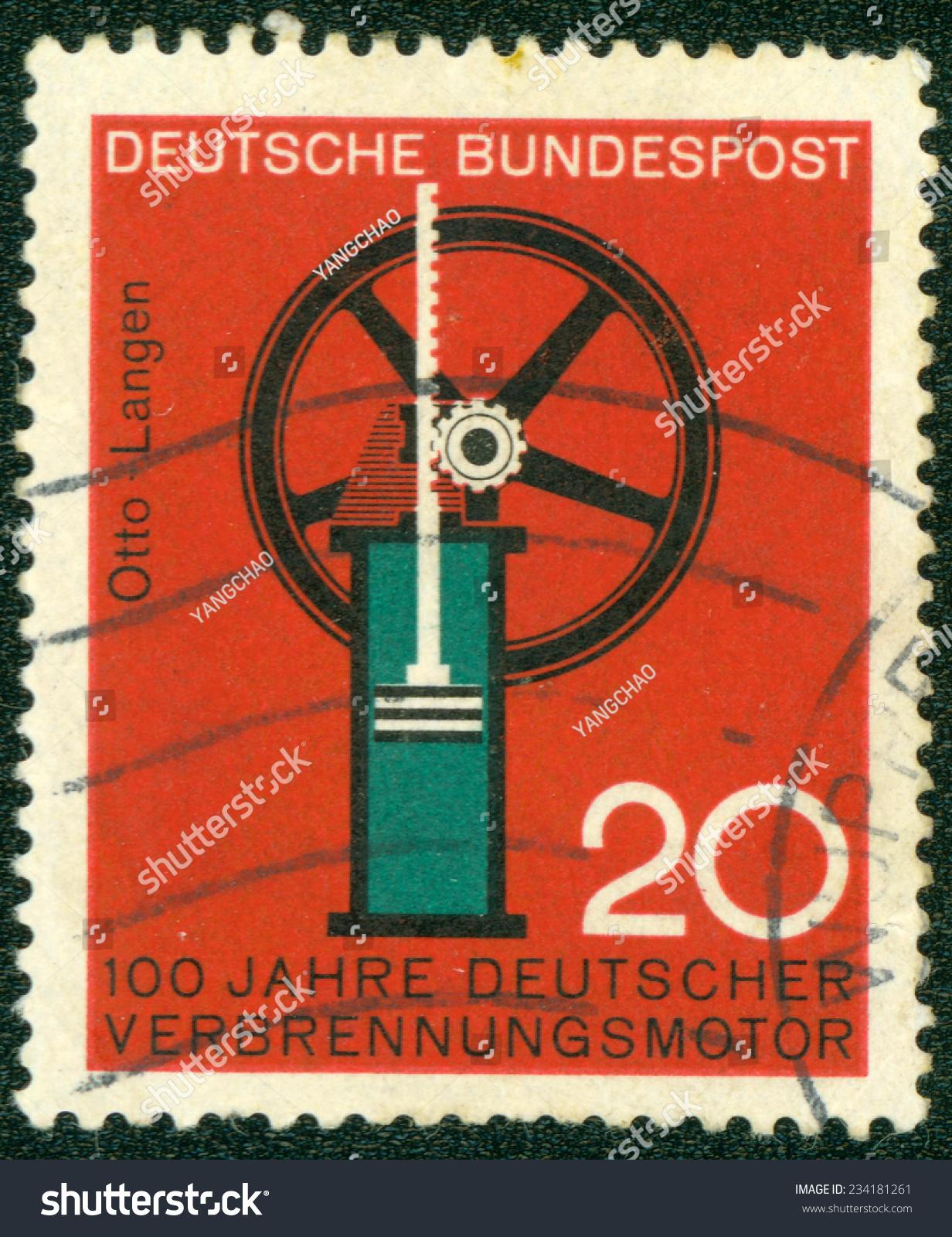 germany circa 1964 postage stamp printed in germany. Black Bedroom Furniture Sets. Home Design Ideas