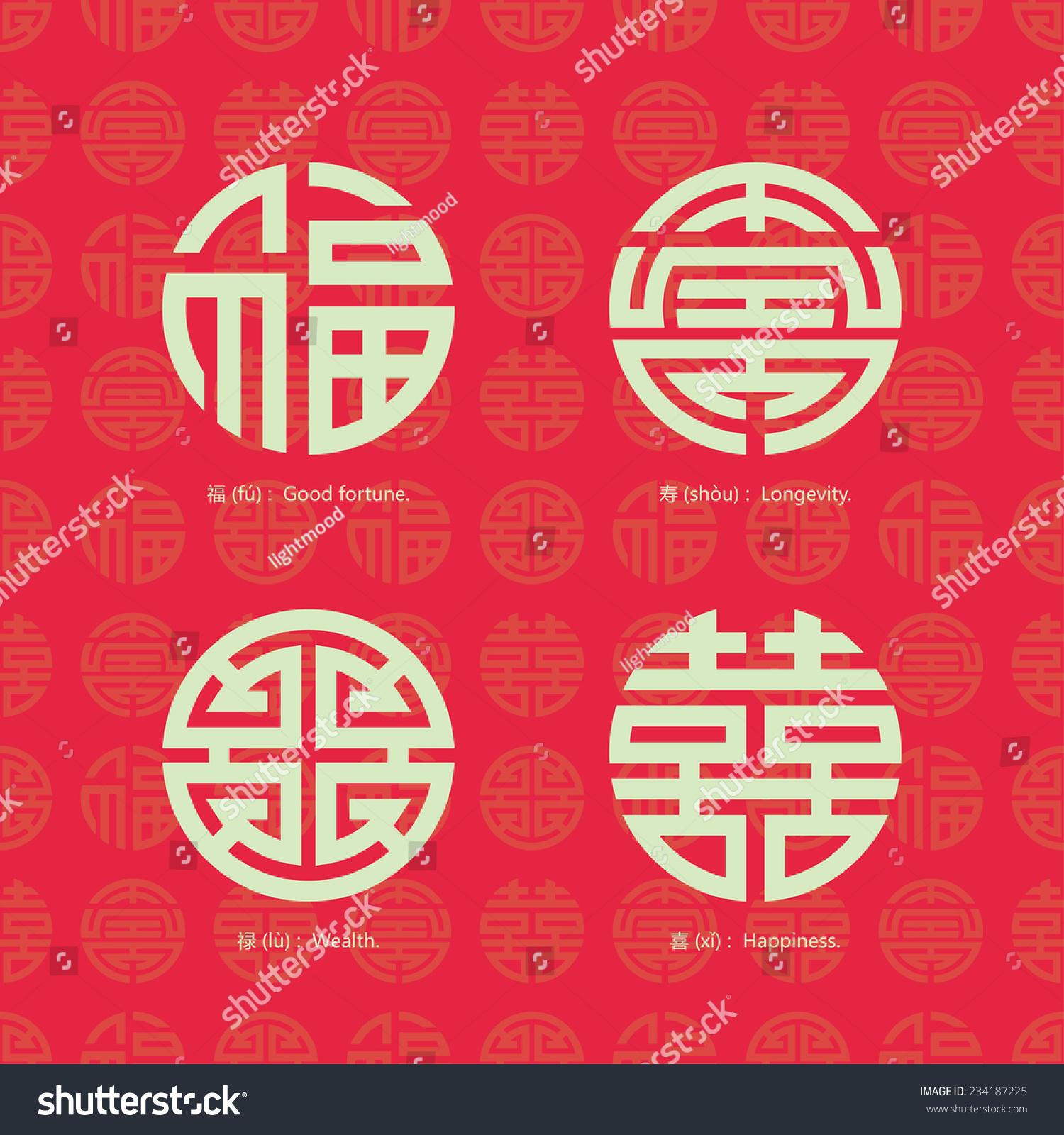 China traditional auspicious symbols seamless background stock china traditional auspicious symbols and seamless background biocorpaavc