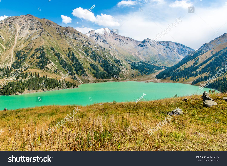 Spectacular Scenic Big Almaty Lake Tien Stock Photo ... - photo#38