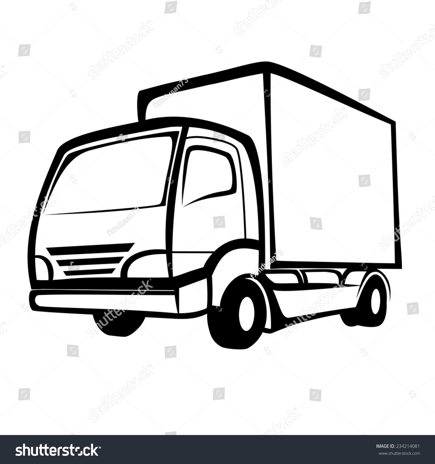 delivery truck vector - photo #33