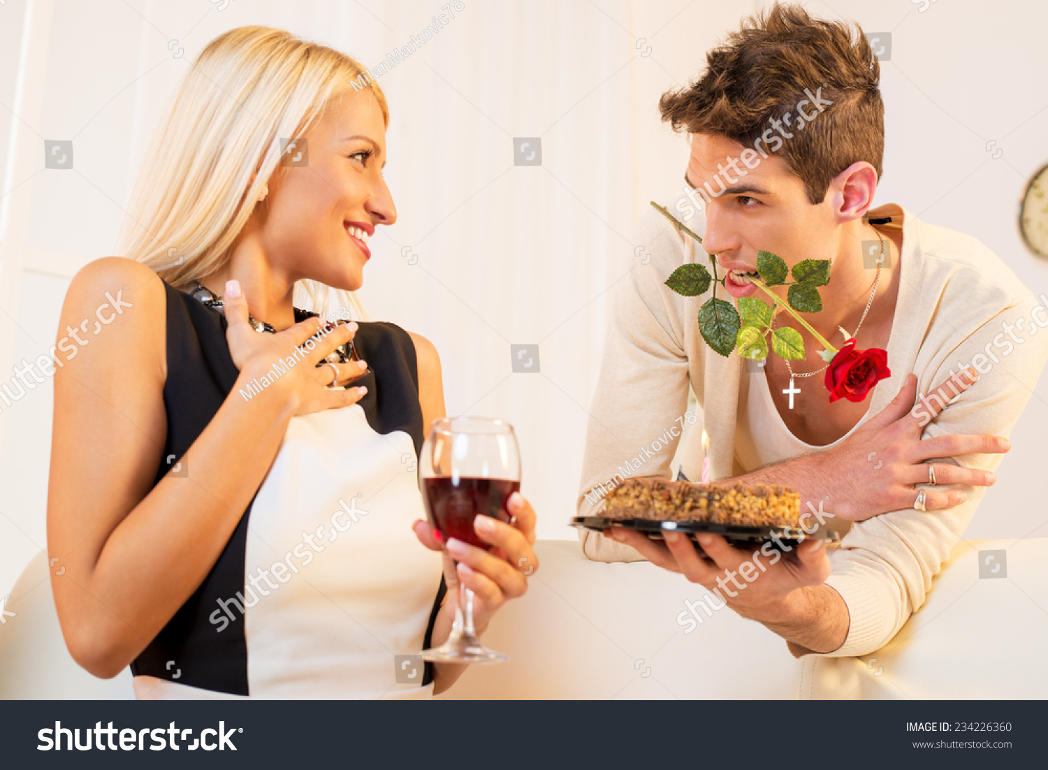 Young Man Rose His Mouth Gives Stock Photo 234226360 Shutterstock