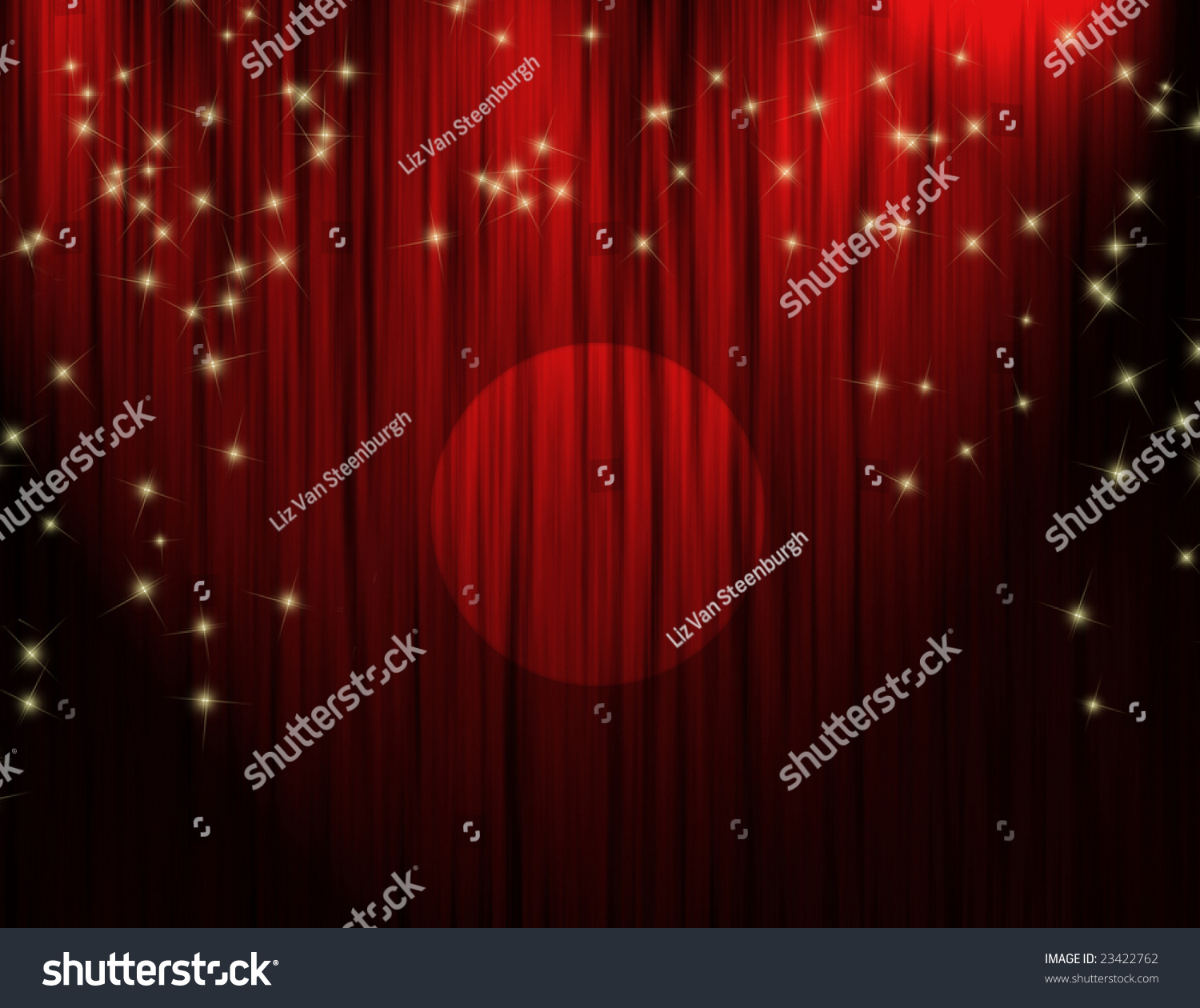 Big event red curtains with spotlight stock photo getty images - Red Theater Curtains With Dramatic Stage Lighting Sparkling Stars And Spotlight
