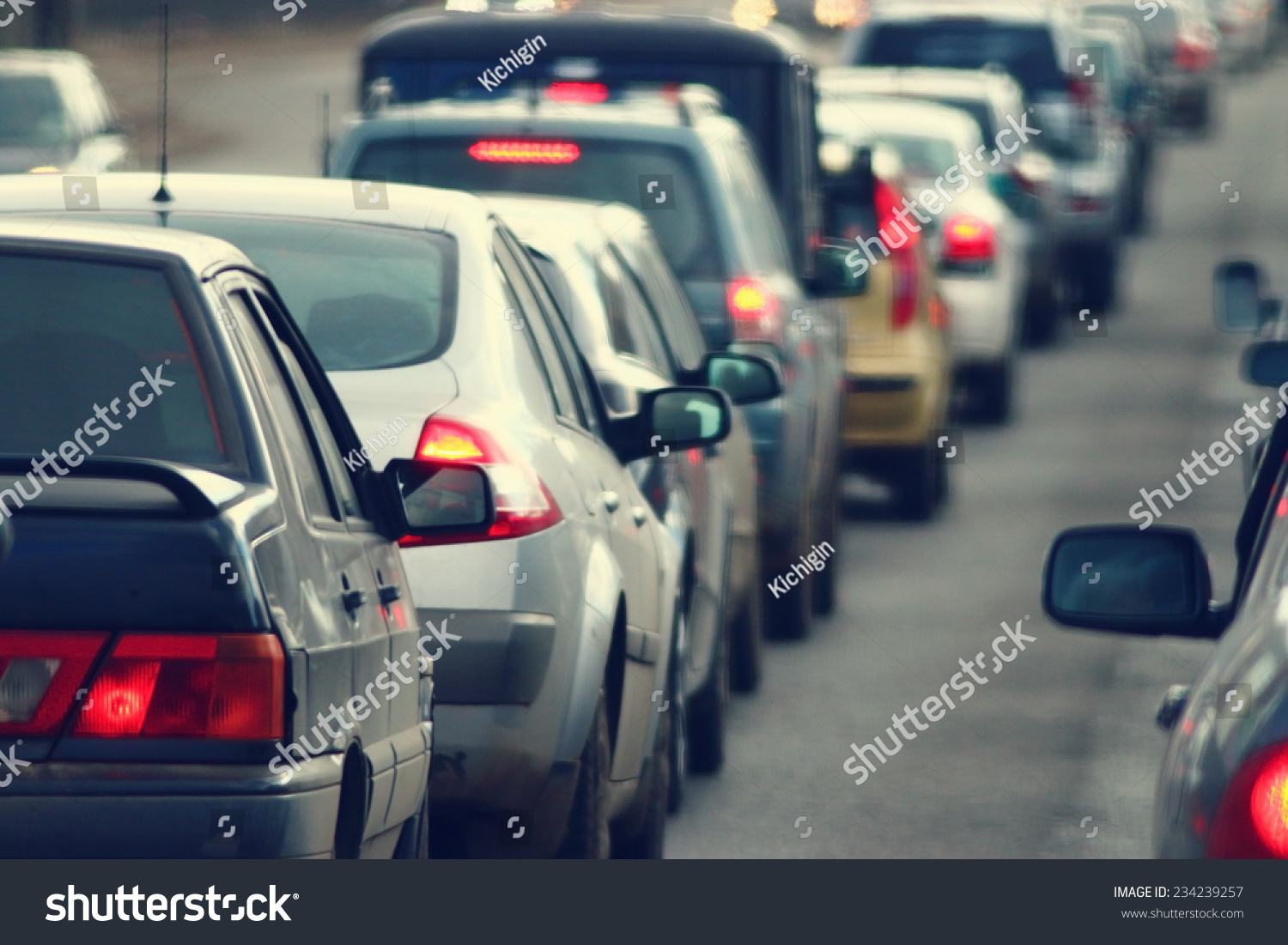 traffic jams in the city, road, rush hour #234239257