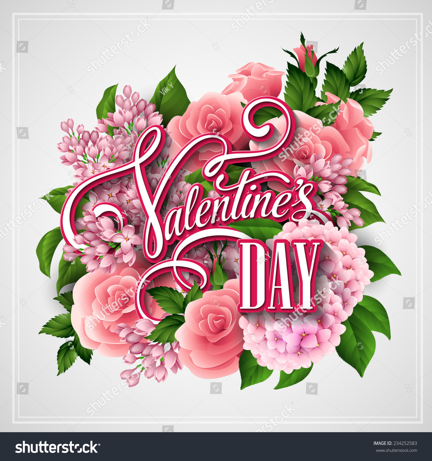Valentines day card beautiful flowers vector stock vector hd valentines day card with beautiful flowers vector illustration izmirmasajfo