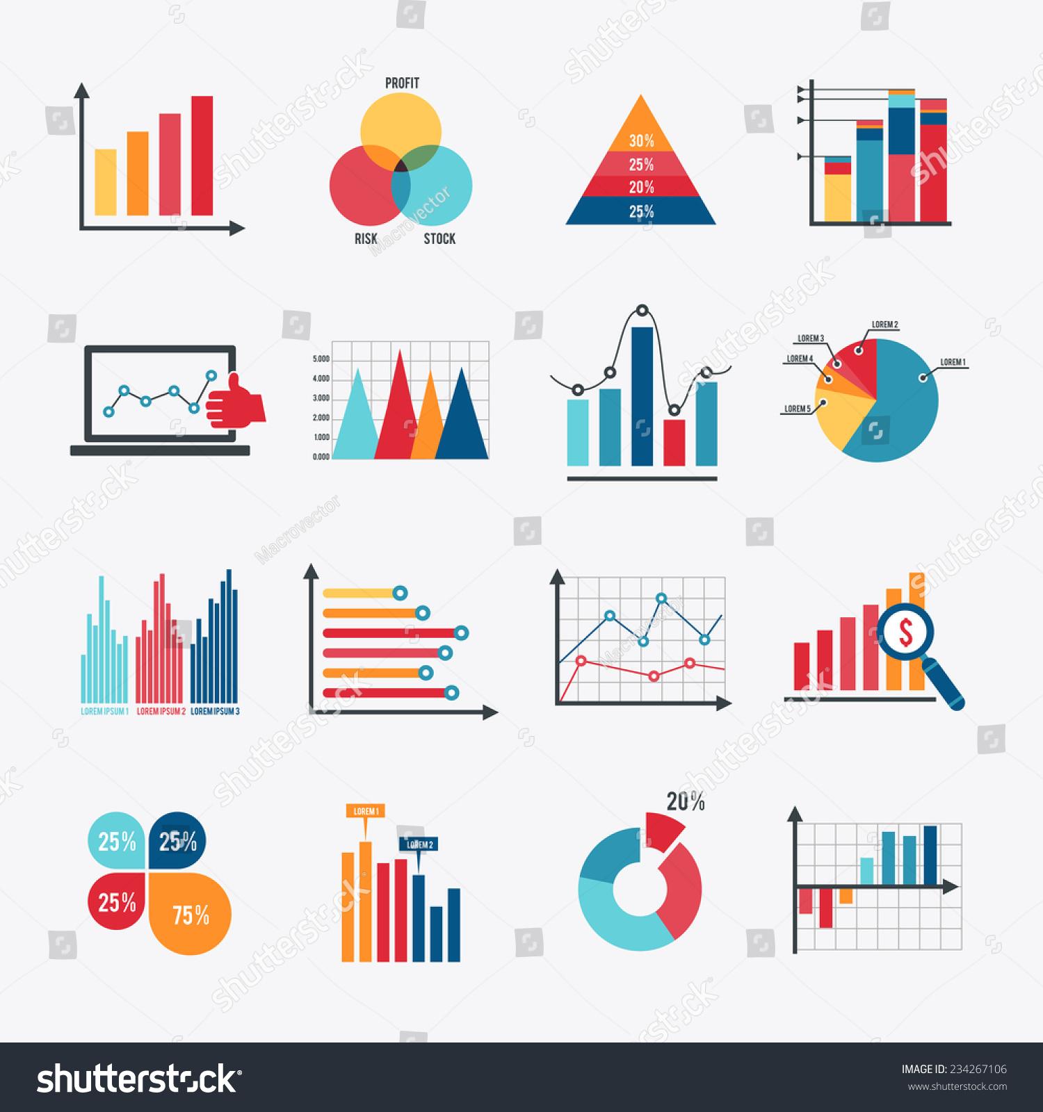 Business Data Market Elements Dot Bar Stock-Vektorgrafik 234267106 ...