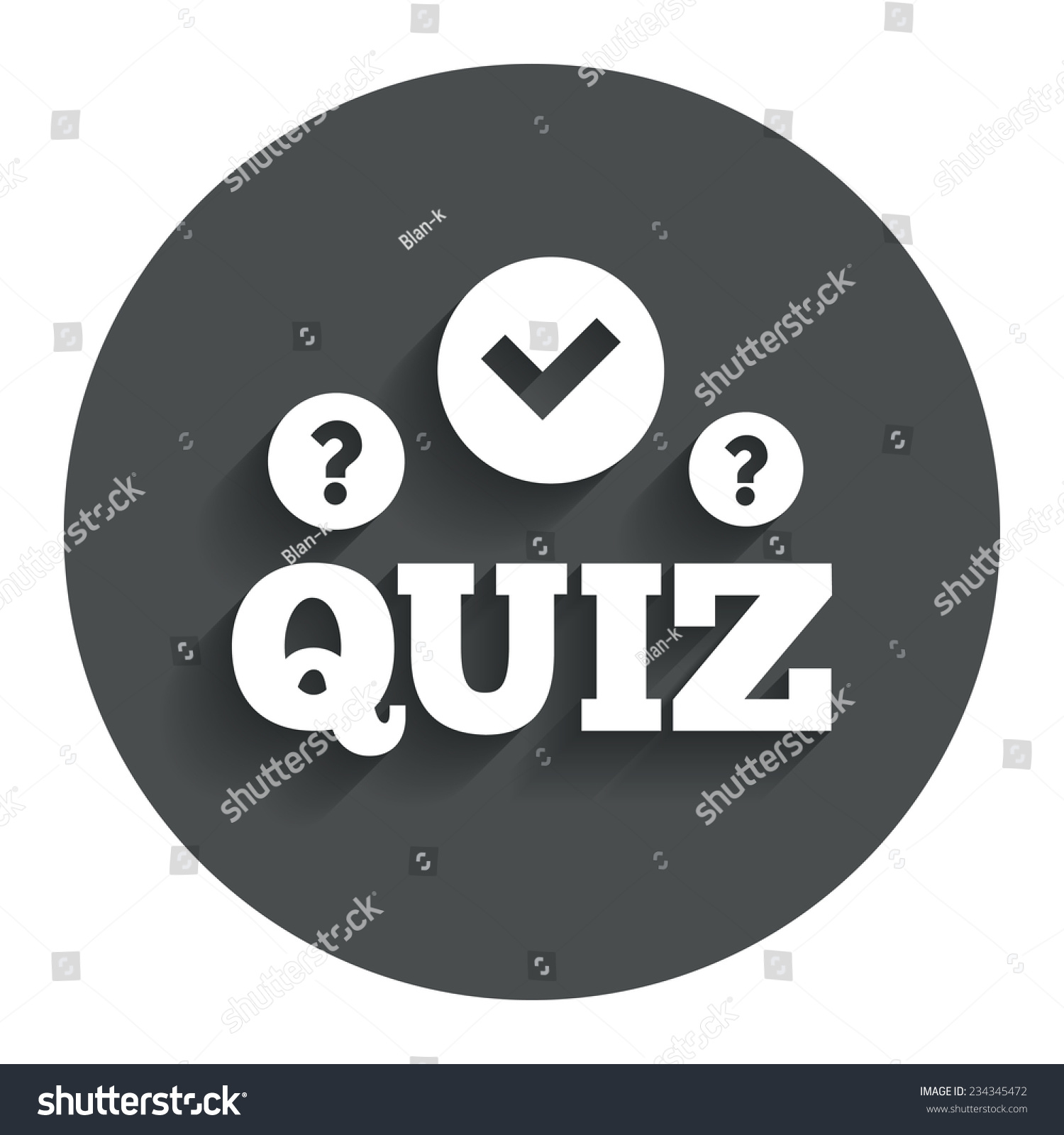 Quiz Check Question Marks Sign Icon Stock Vector (Royalty