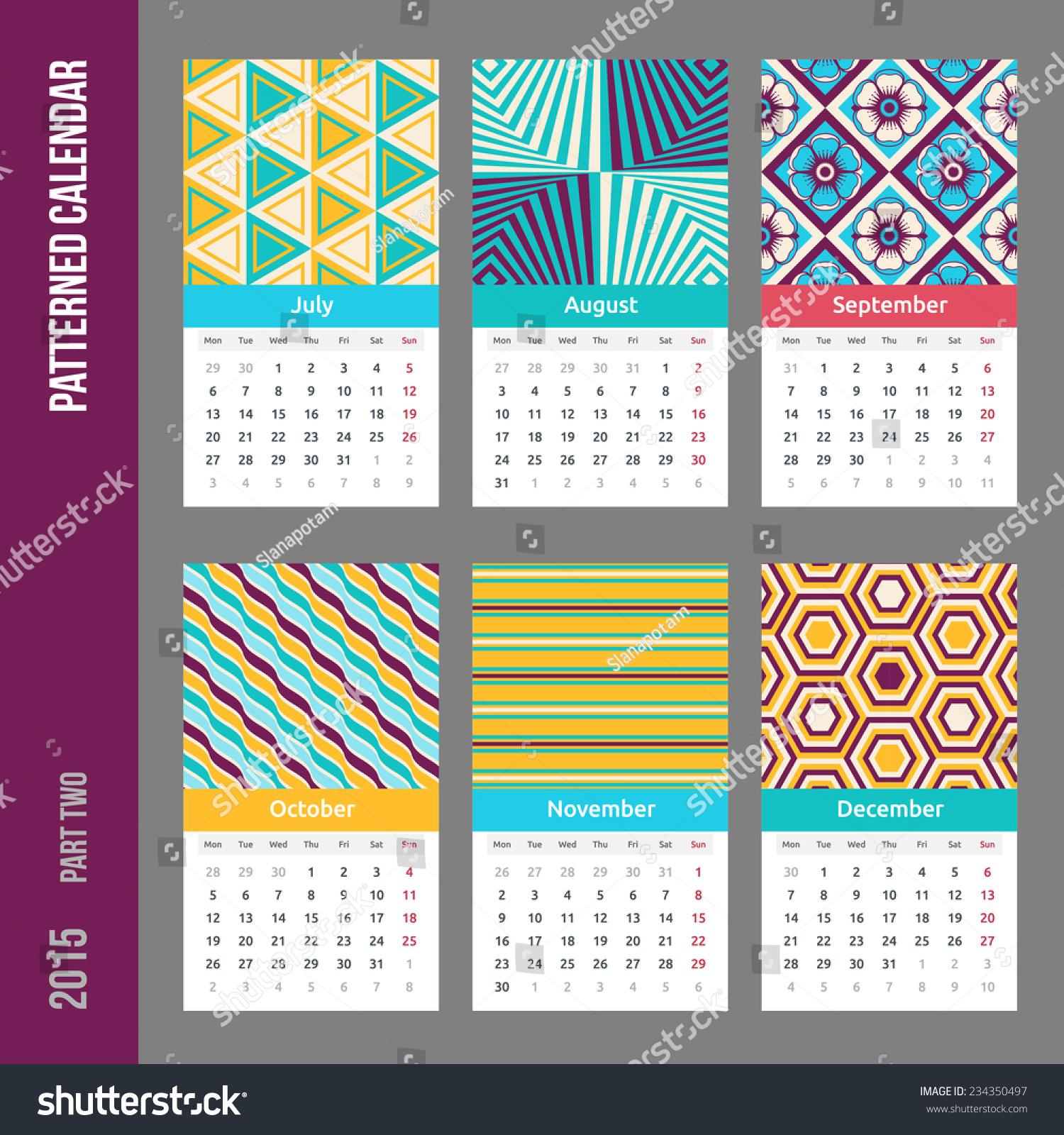 Calendar Pages Vector : European calendar grid year abstract stock vector