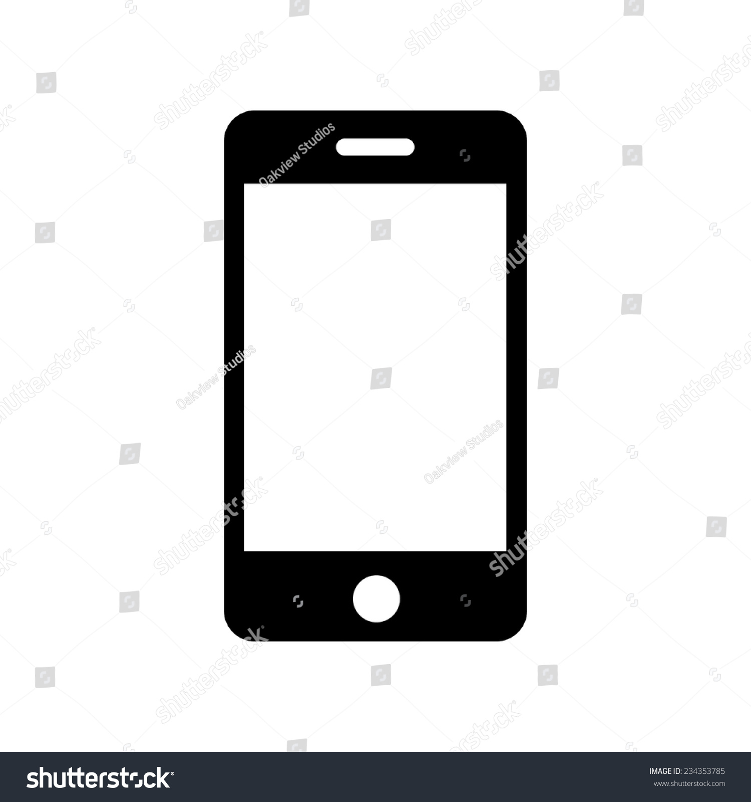Iphone Icon, Vector Illustration - 234353785 : Shutterstock