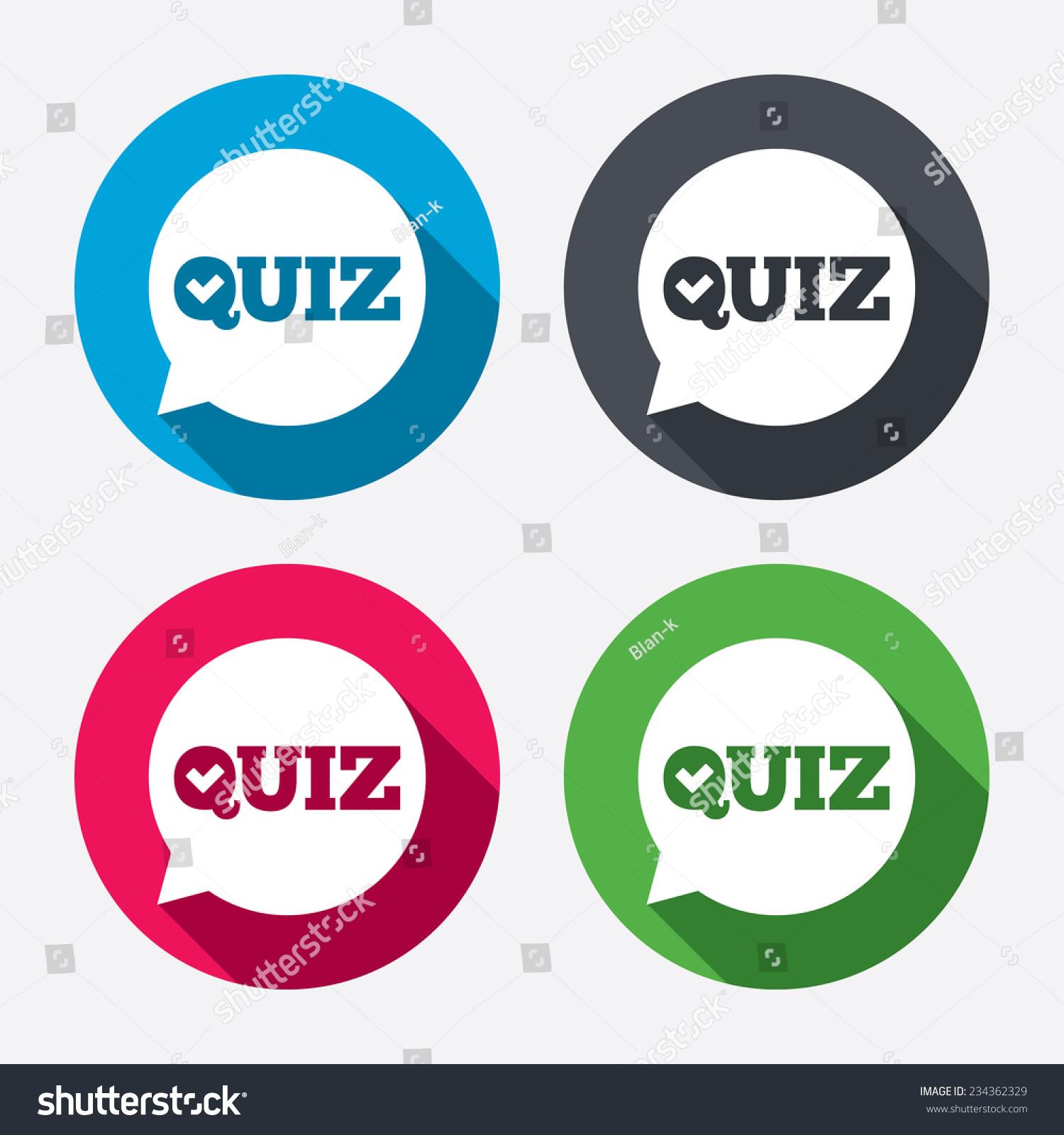 Quiz Check Speech Bubble Sign Icon Stock Vector Royalty Free