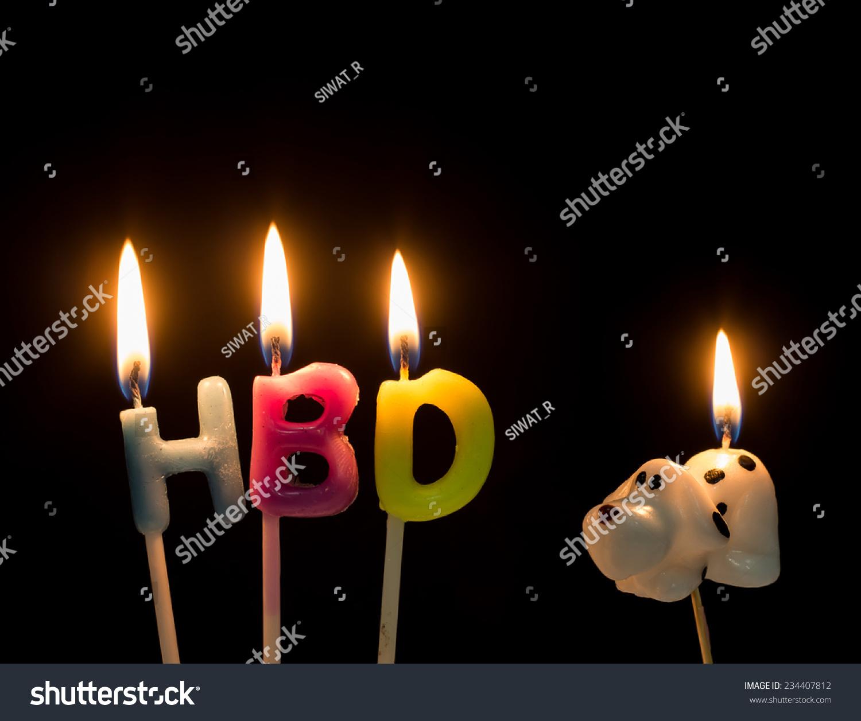 Hbd Happy Birthday Text Dog One Stock Photo 234407812