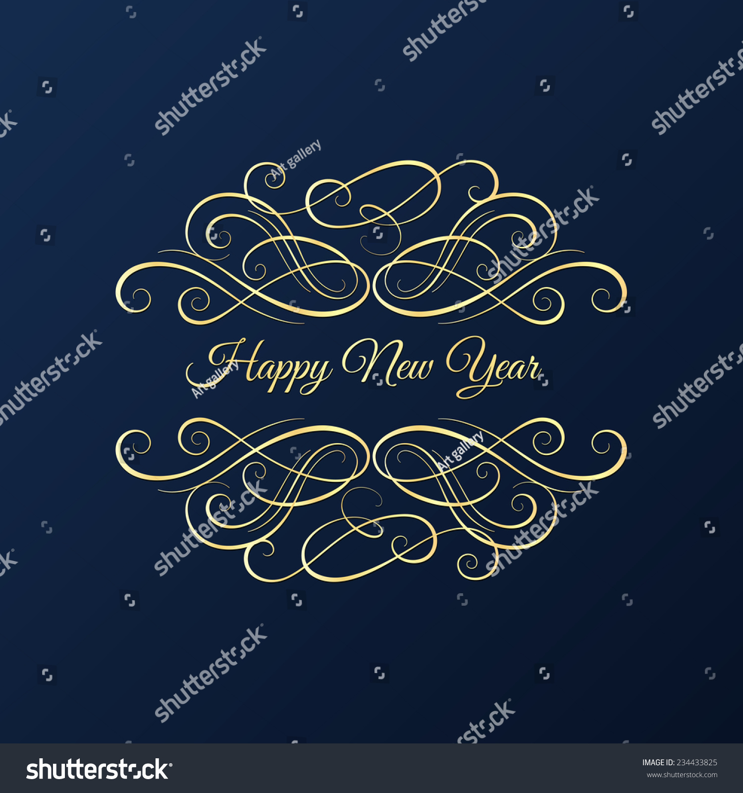 Christmas New Year Background Greeting Card Stock Vector Royalty