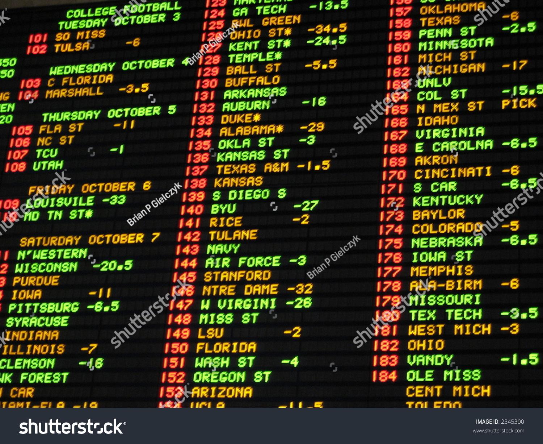 Casino college football odds
