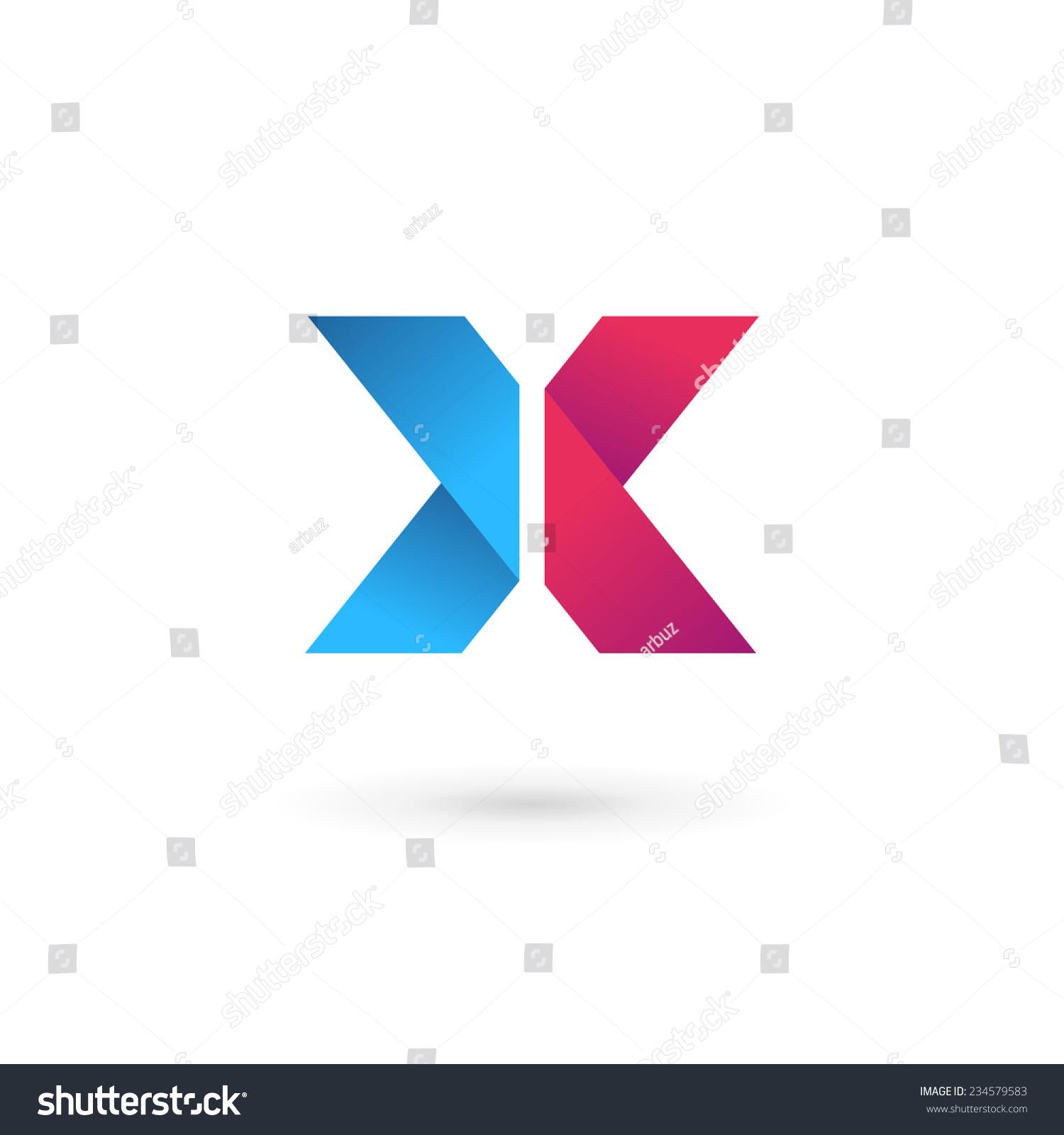 letter x logo icon design template stock vector 234579583 shutterstock. Black Bedroom Furniture Sets. Home Design Ideas