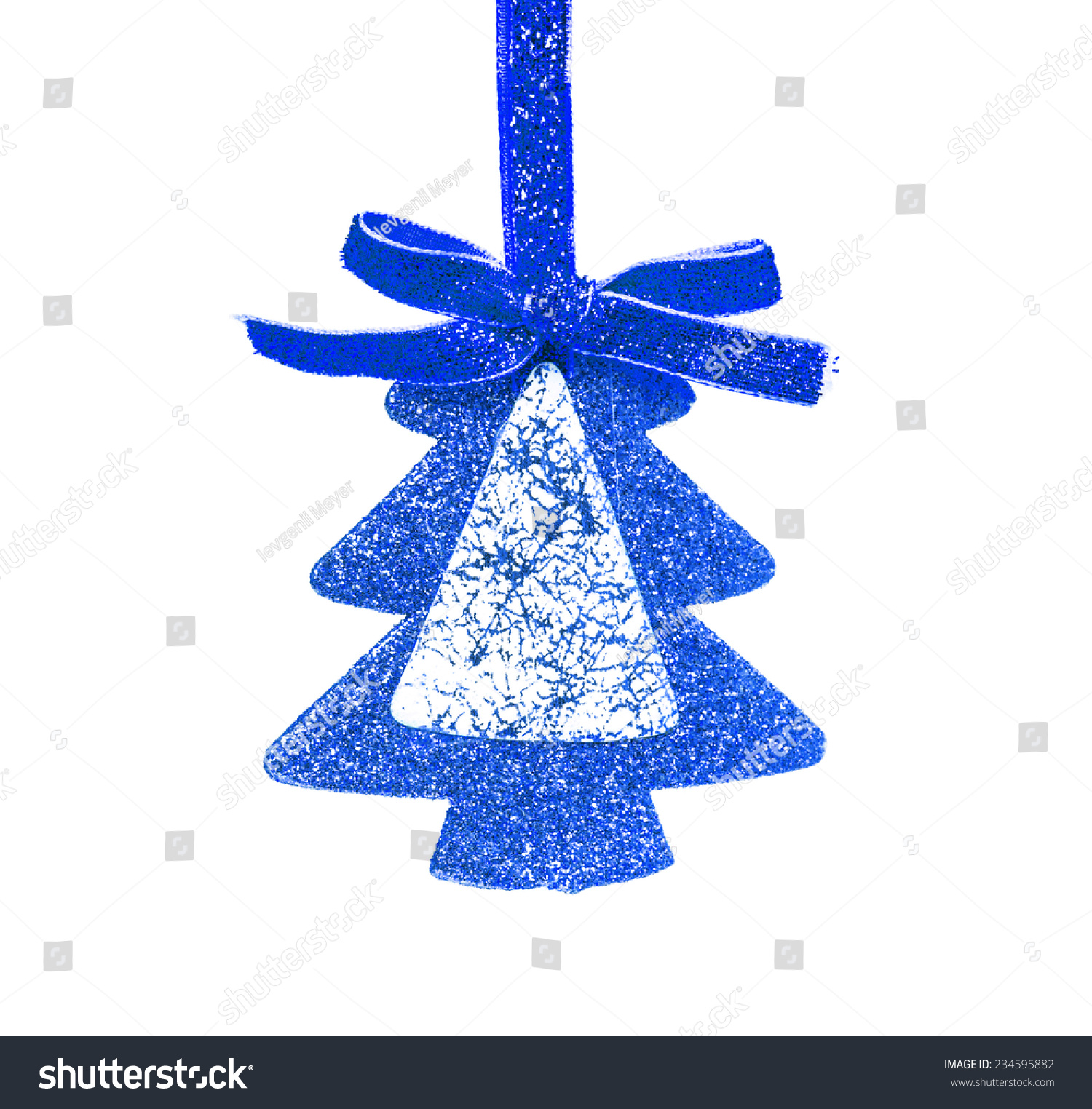 Simple Blue Christmas Tree Isolated On Stock Photo Edit Now 234595882