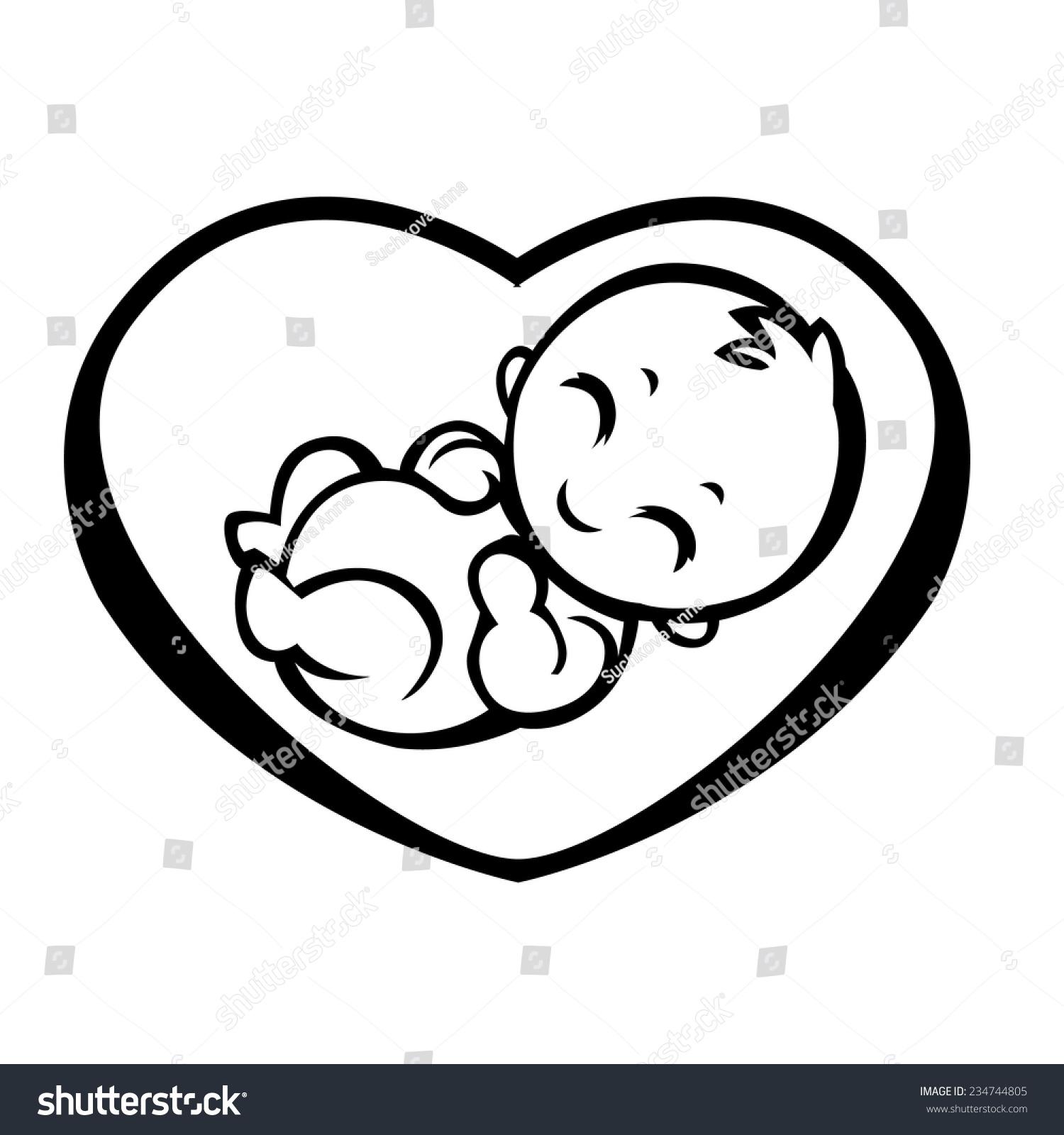 Allegorical Symbol Motherhood Pregnancy Baby Inside Stock Vector 234744805