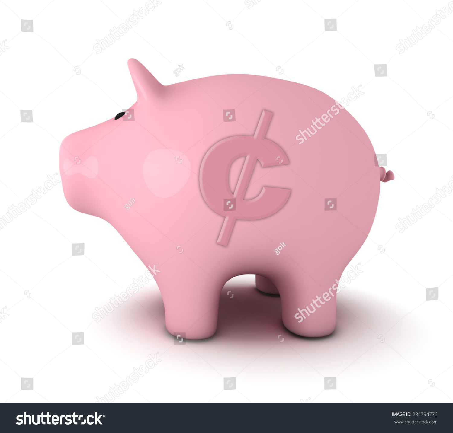 A Pink Piggy Bank With A Dollar Sign On A White Background Piggy