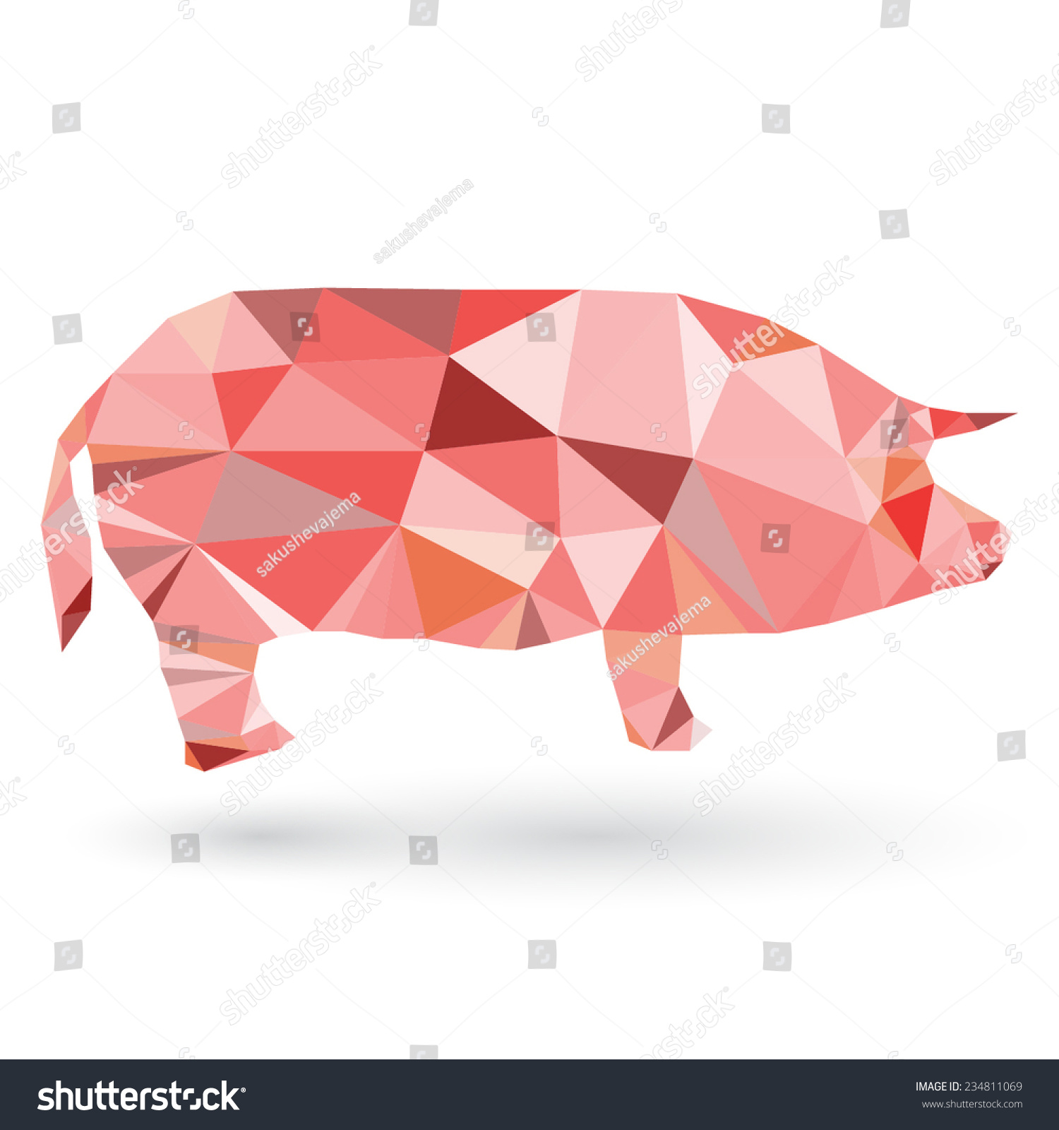 Illustration origami pig isolated on white stock vector 234811069 illustration of origami pig isolated on white background pooptronica