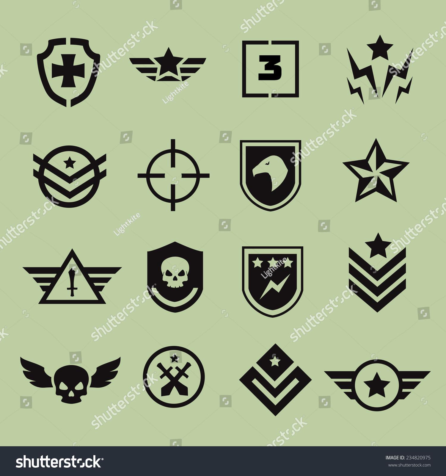 how to make military logo