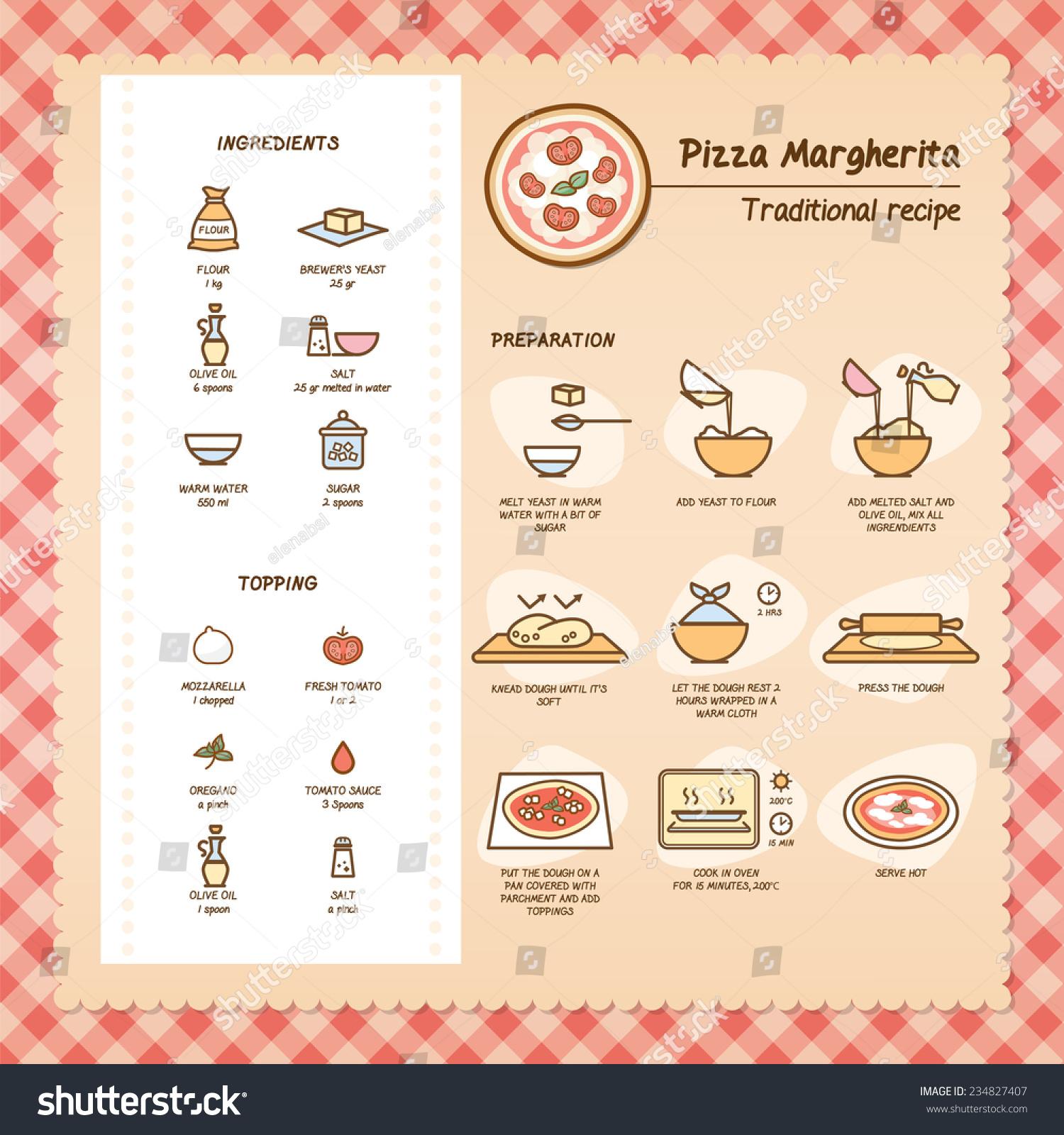 Stock Vector Pizza Margherita