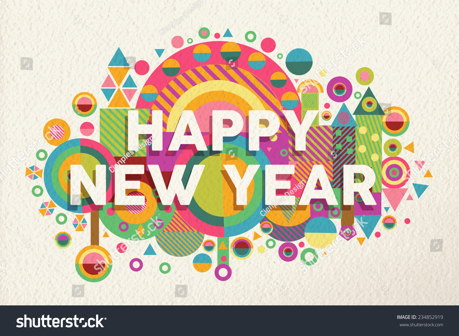 Stock illustration 3d red text quot yes quot stock illustration royalty - Happy New Year 2015 Quote Design Illustration Ideal For Web Greeting Card And Print