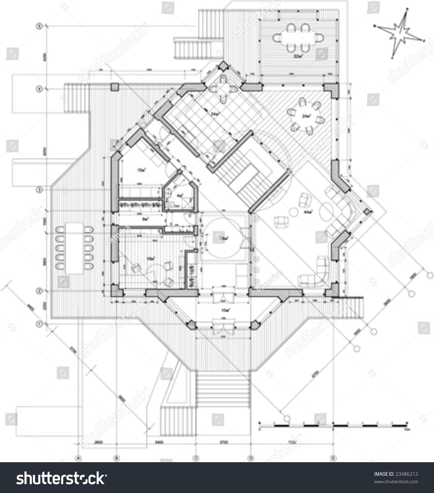 House Plan Vector Stock Vector HD (Royalty Free) 23486212 - Shutterstock