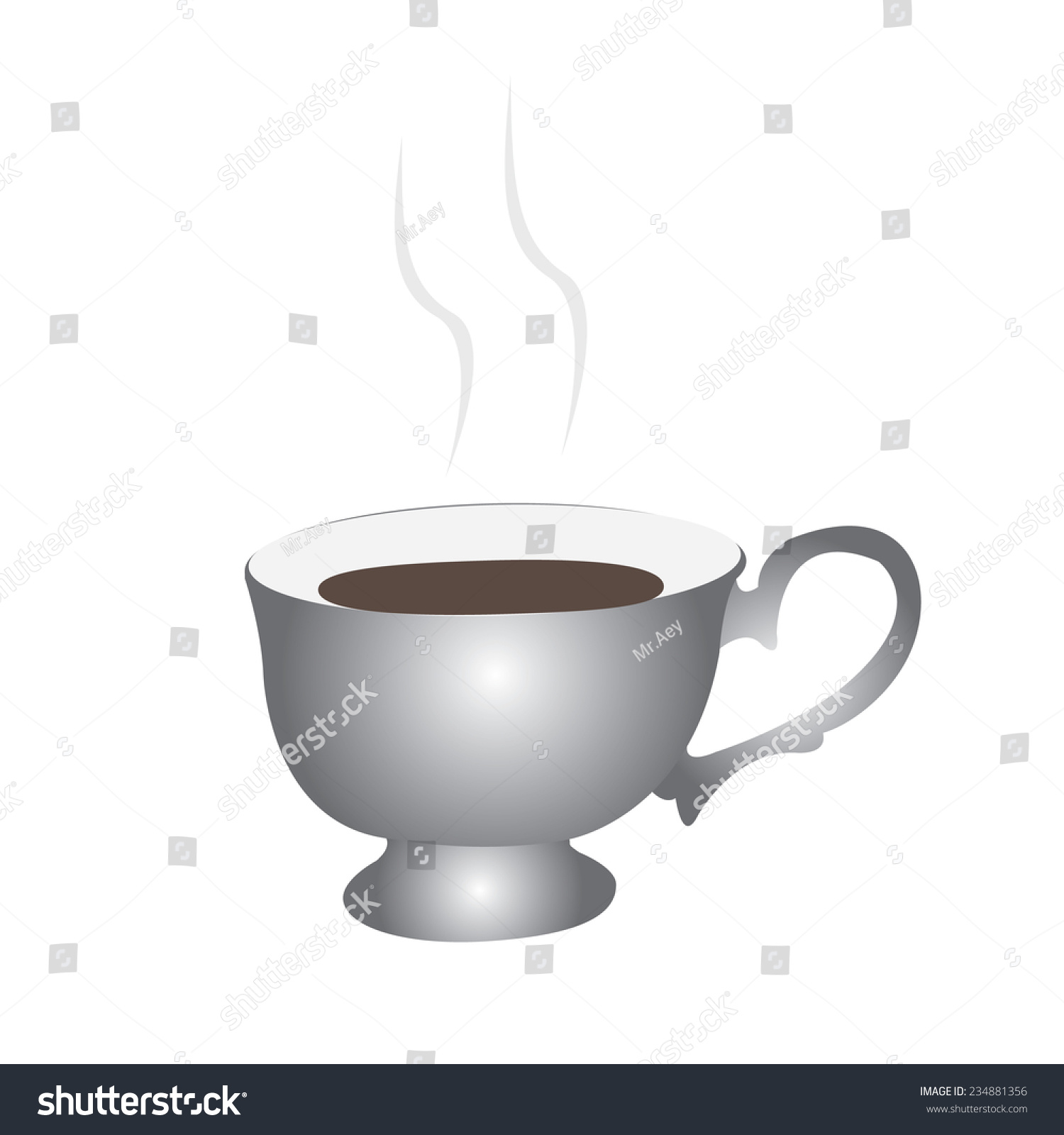 Coffee cup vector free - Coffee Cup Vector Illustration On White Coffee Tea Etc