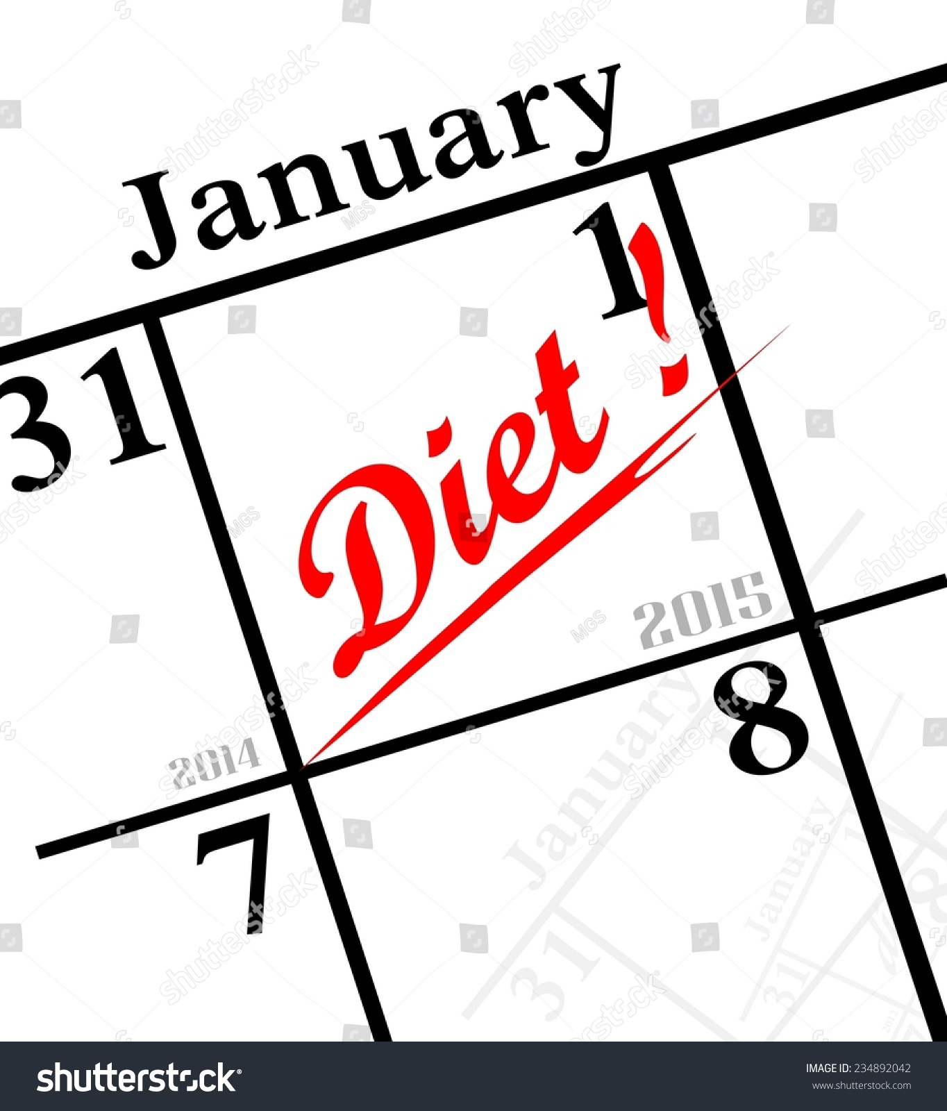 2015 new years resolution diet stock photo 234892042