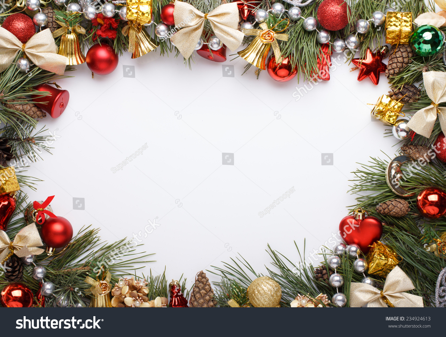 Christmas Frame Christmas Ornaments Decorations Stock Photo (Edit ...