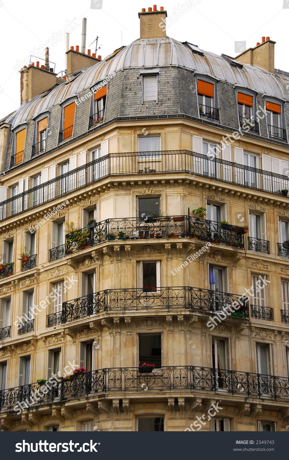 small old apartment building. Old apartment buildings with wrought iron balconies in Paris France Apartment Buildings Wrought Iron Balconies Stock Photo 2349743