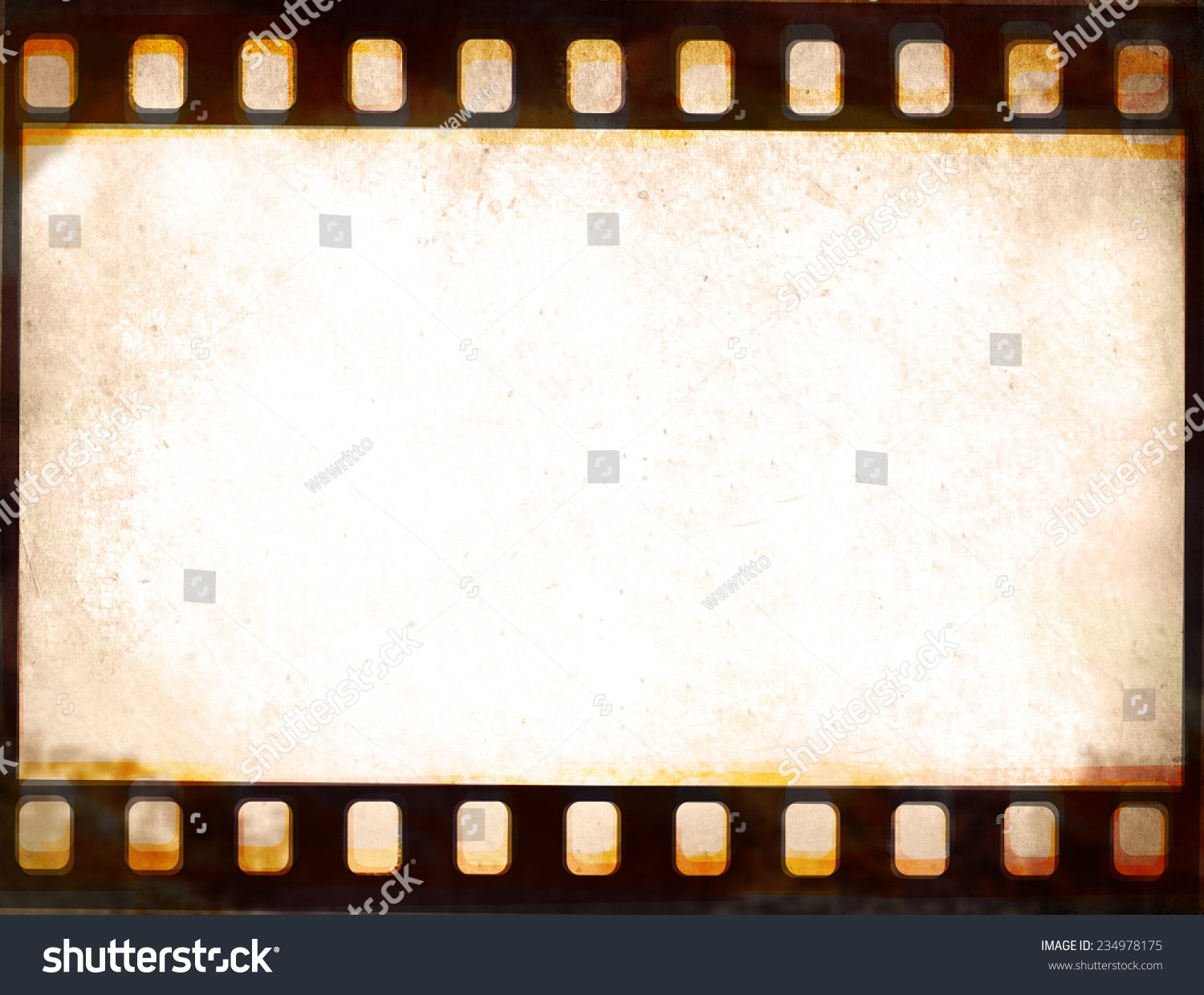 Grunge Film Strip Frame Background Stock Illustration 234978175 ...