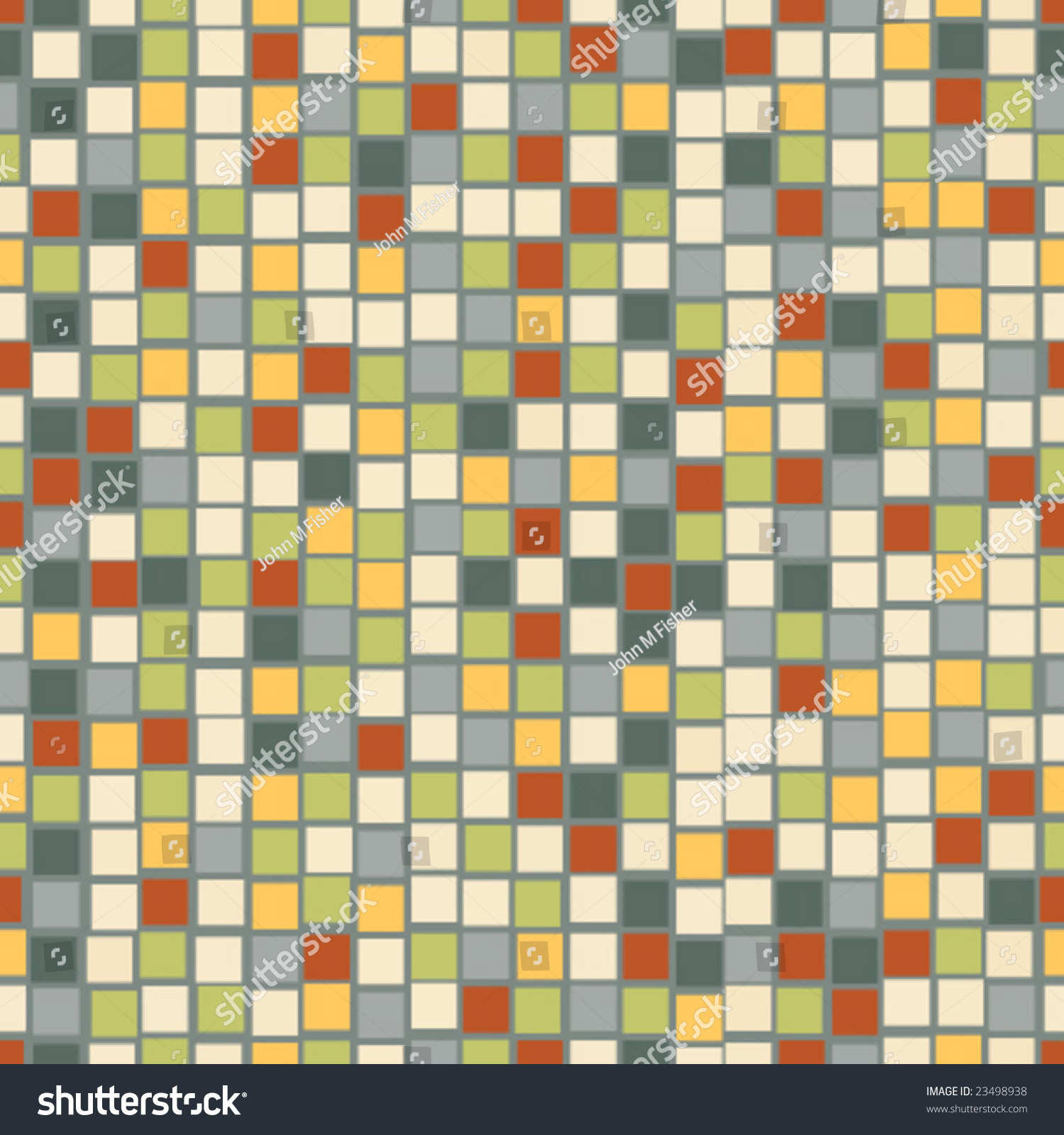 Seamless Mosaic Tile Pattern Background Stock Photo (Photo, Vector ...