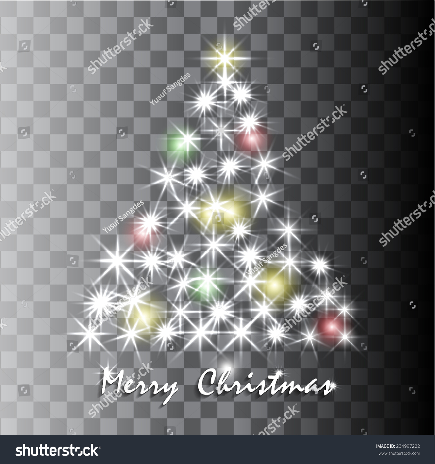 shining christmas tree in transparent background vector illustration - Christmas Tree Transparent