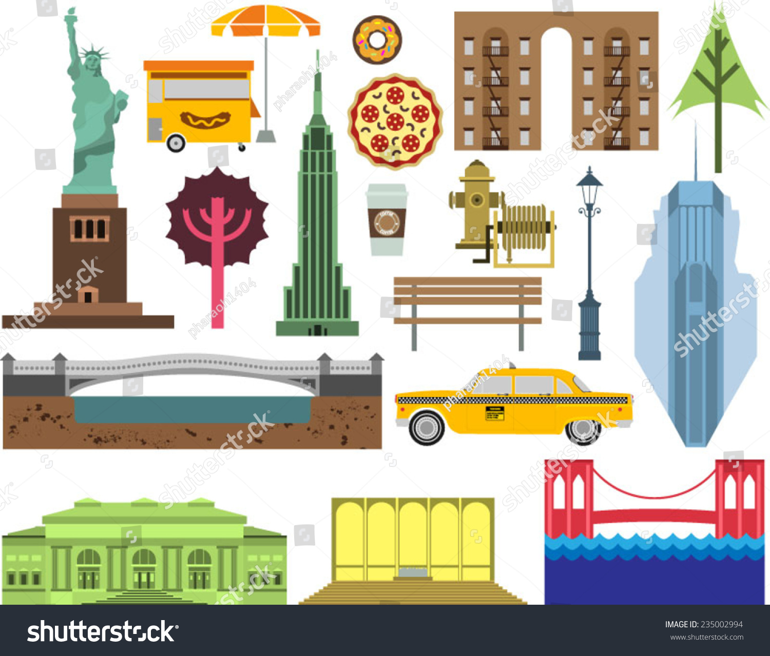 Vector new york city street icon stock vector 235002994 shutterstock vector new york city street icon set a set of new york symbols and landmarks buycottarizona Image collections